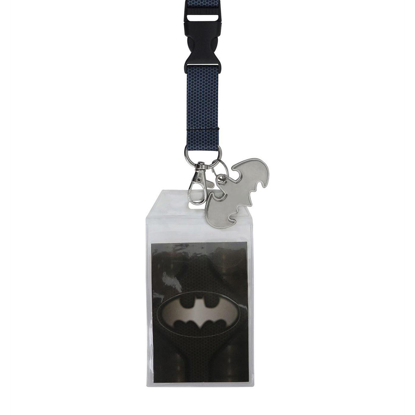 Batman Suit Up Lanyard with Metal Charm