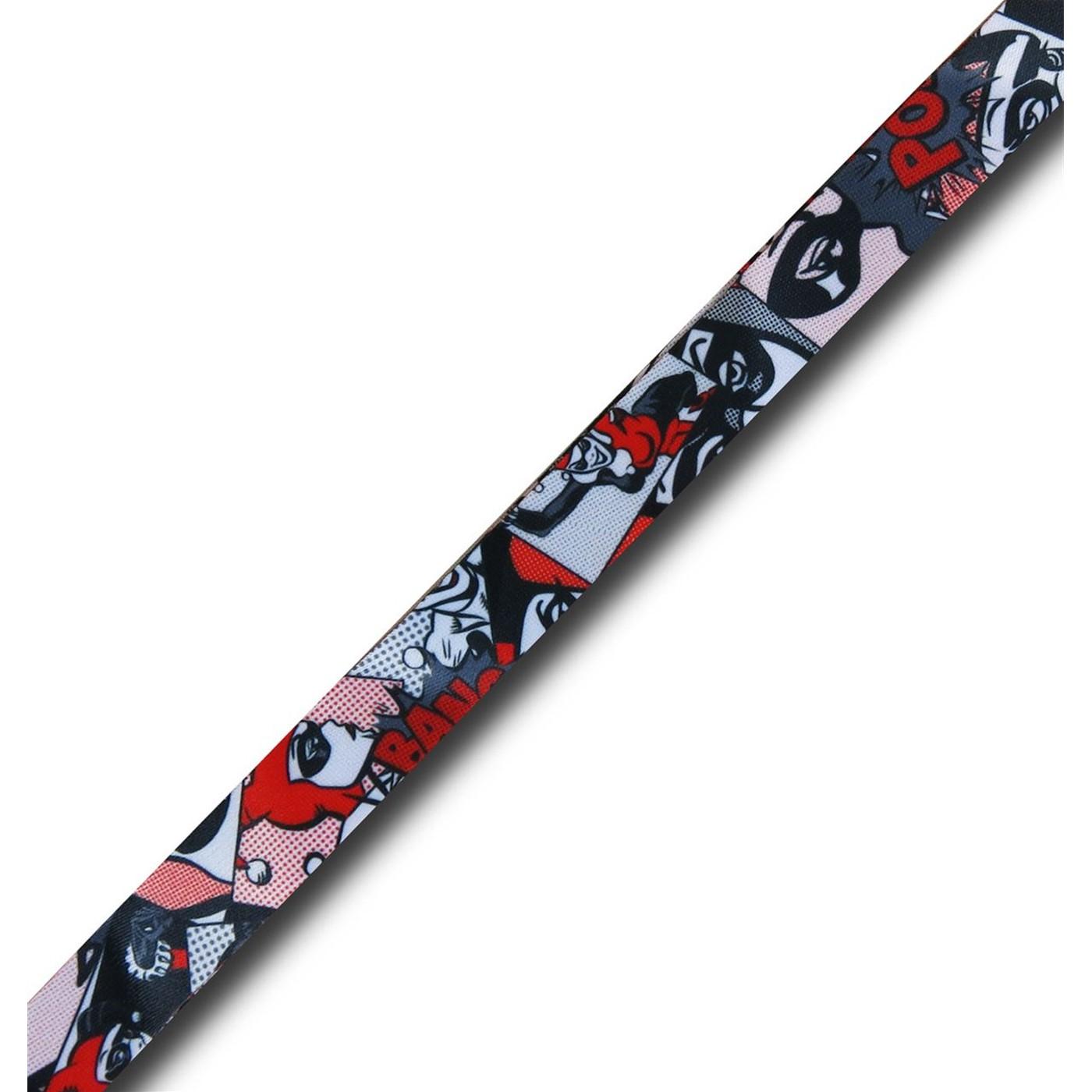 Harley Quinn Comic Lanyard