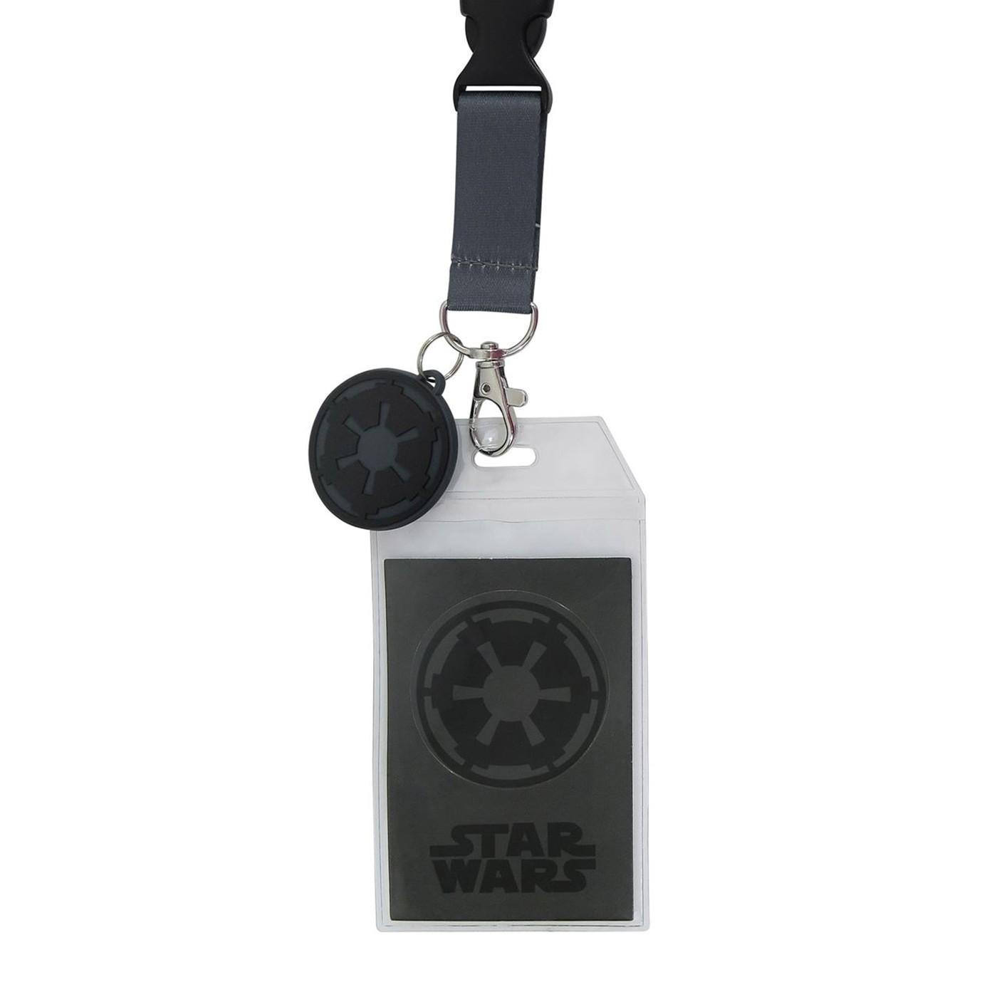 Star Wars Darth Vader Costume Lanyard with PVC Charm