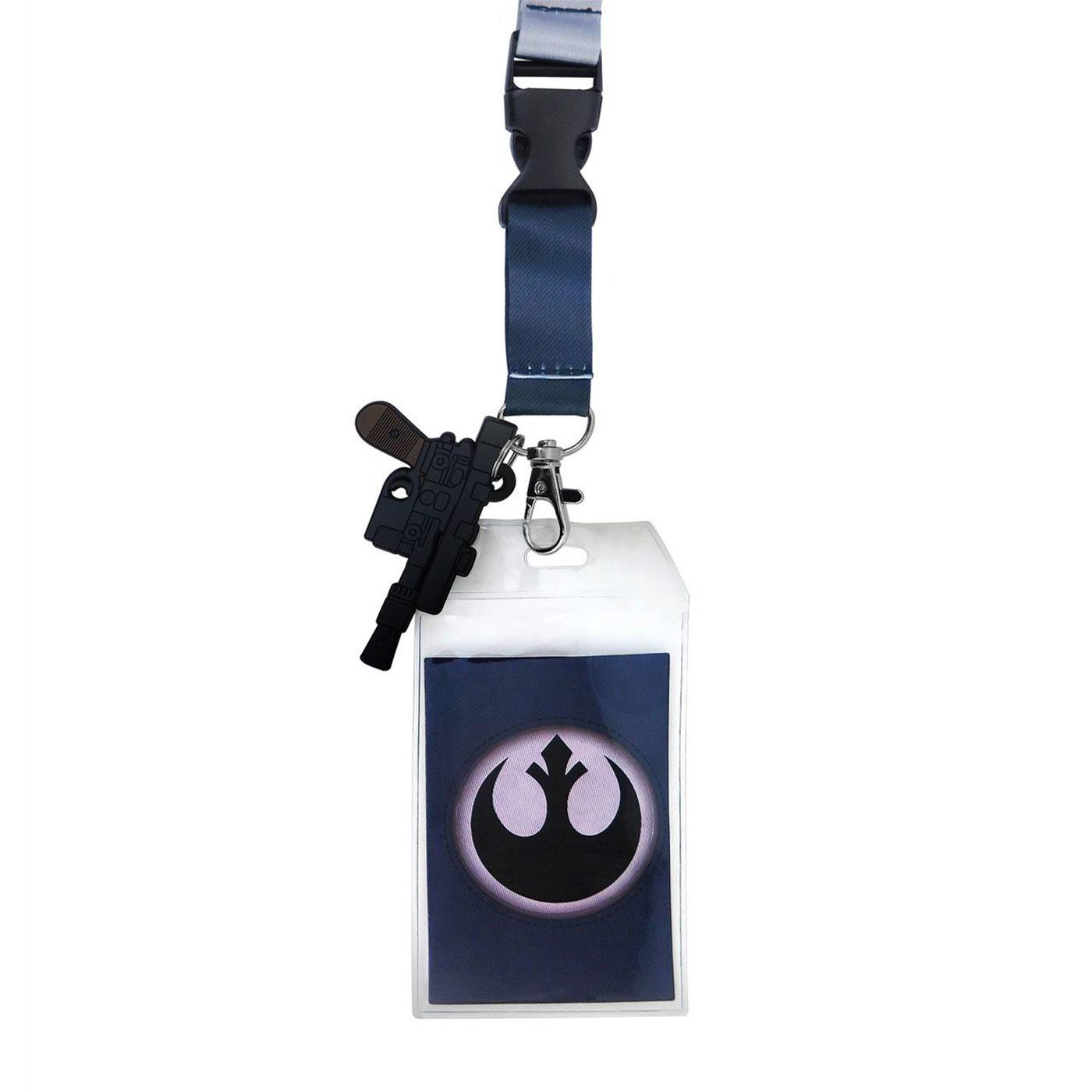 Star Wars Han Solo Hoth Lanyard with PVC Charm