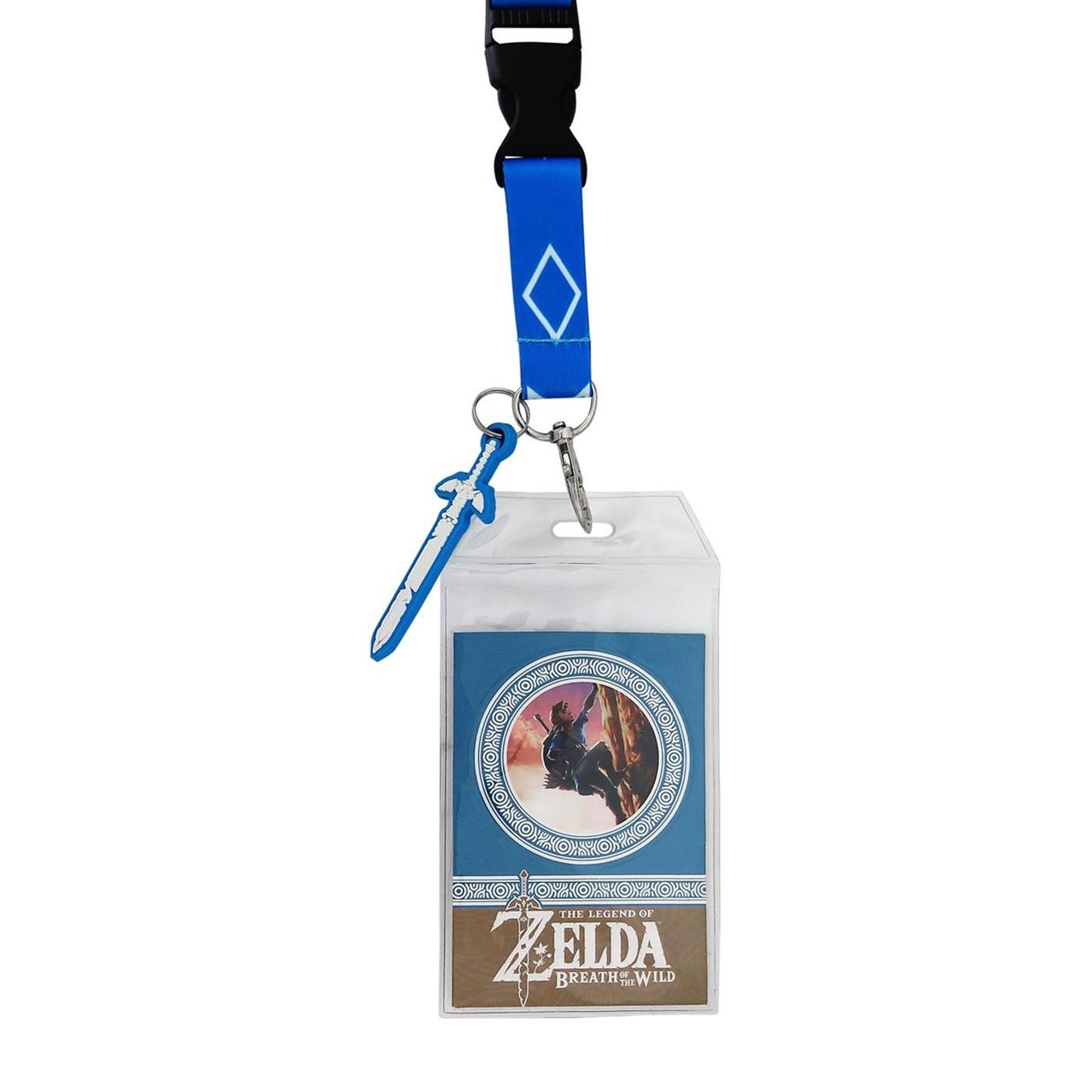 Zelda Breath of the Wild Lanyard with PVC Charm