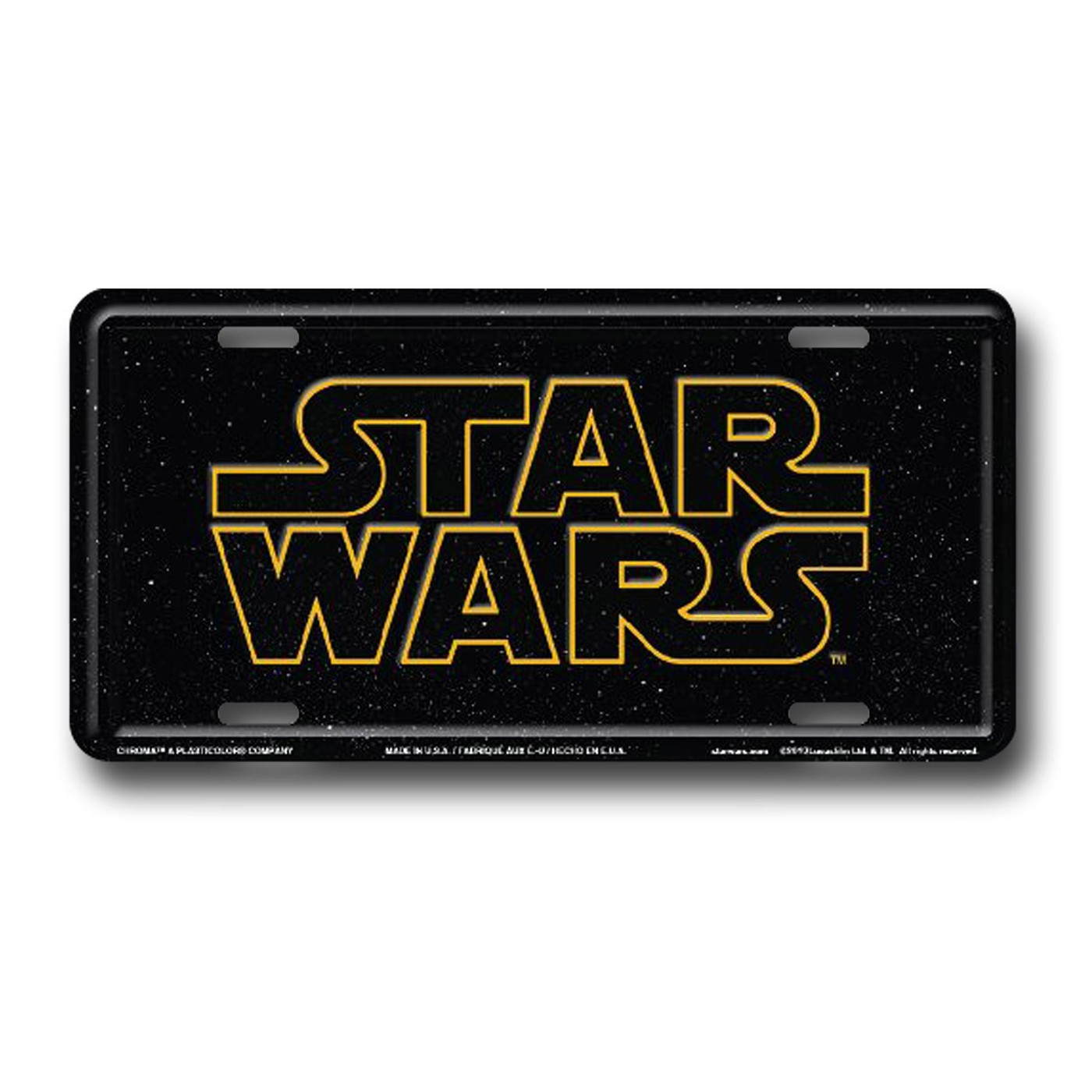 Star Wars Logo License Plate
