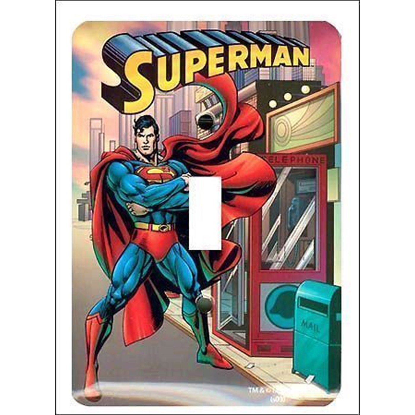Superman Light Switch Plate Cover