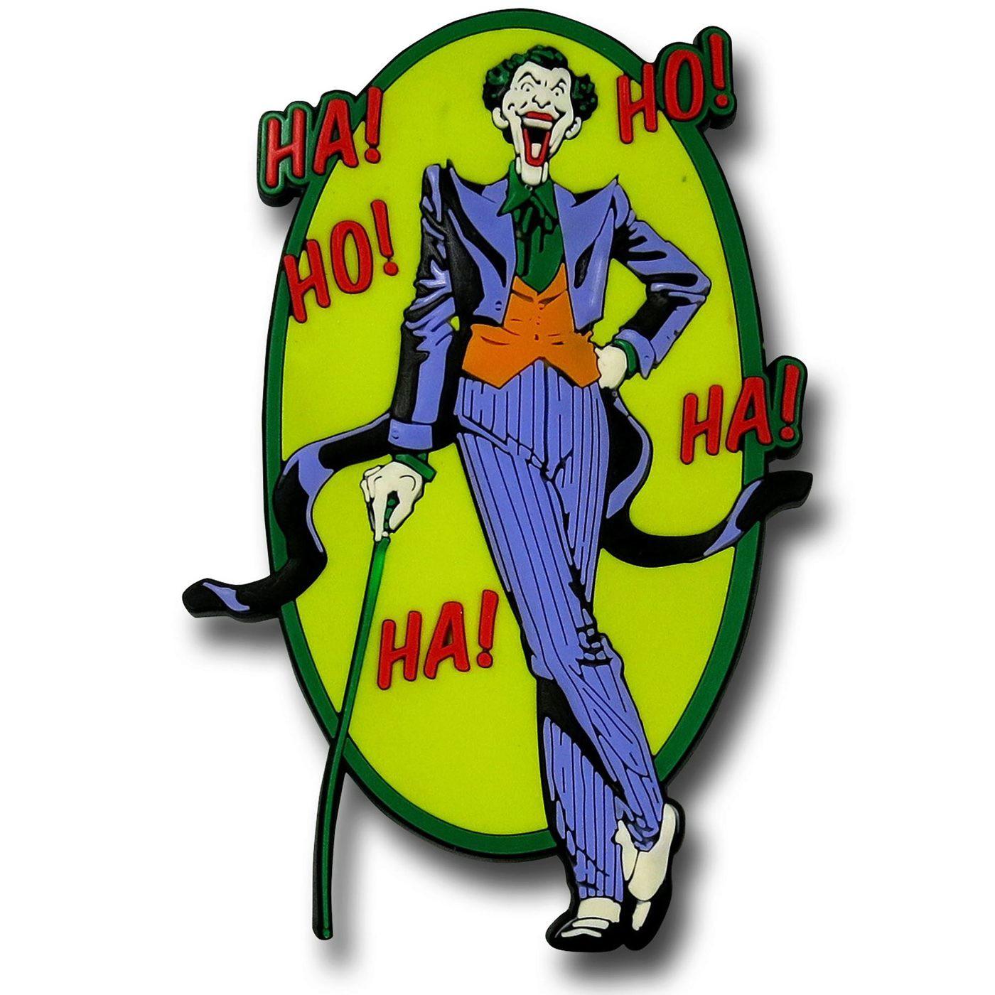 Joker HA!HO!HA! Rubber Magnet
