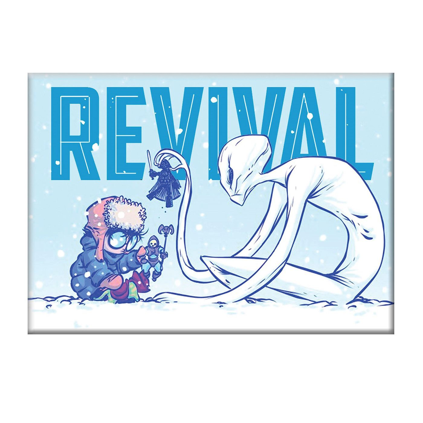 Revival Snow Day Magnet