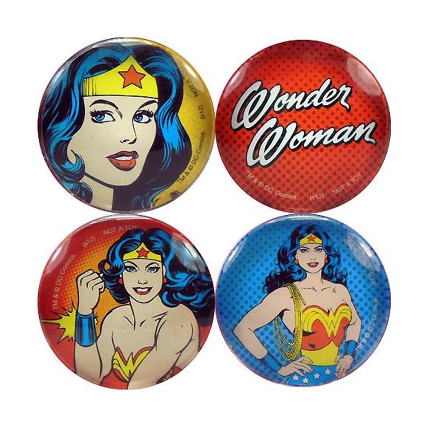 Wonder Woman Logo and Image Magnet Set