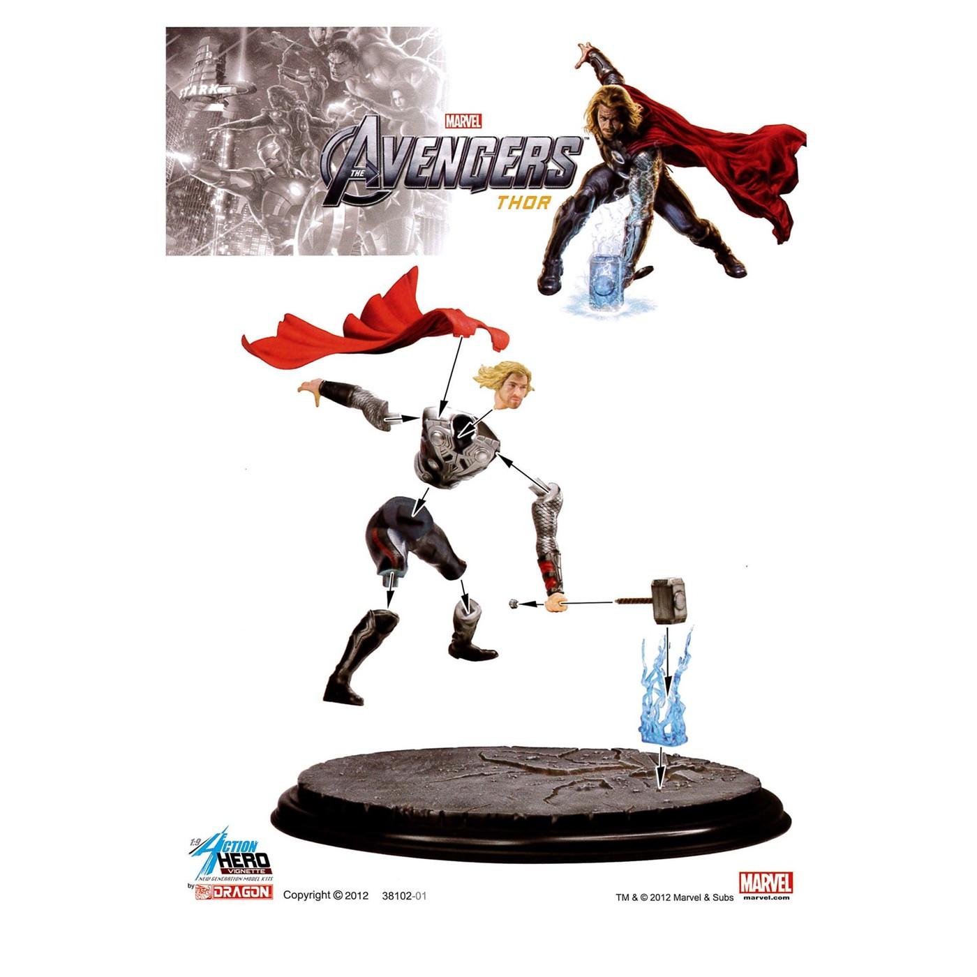 Thor Figure Dragon Model Kit
