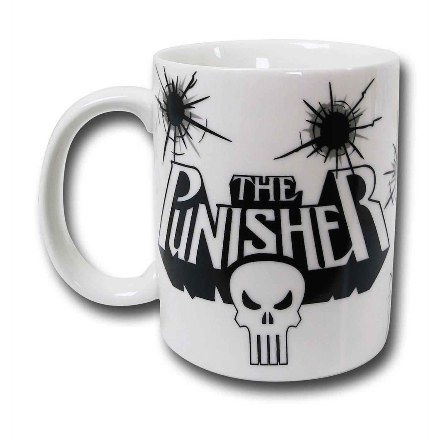 Punisher Symbol White 11.5 Mug