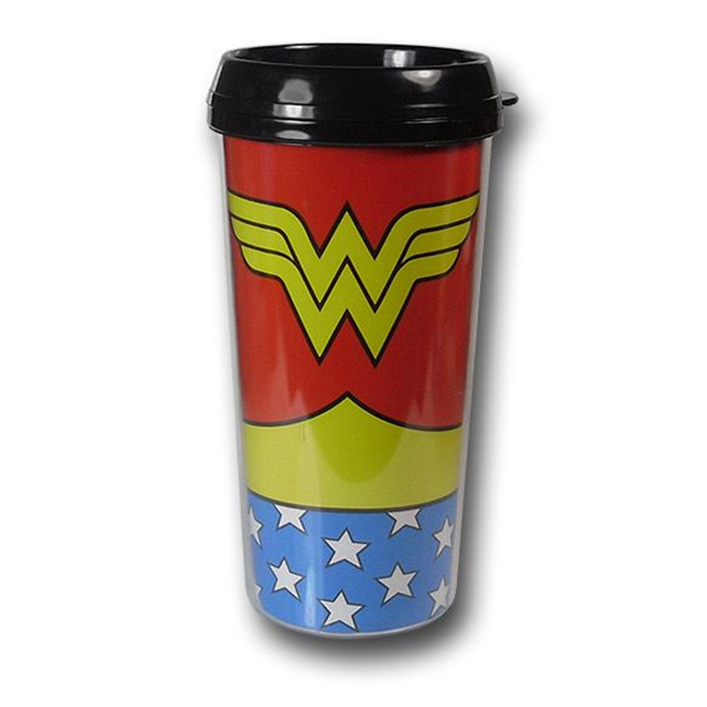 Wonder Woman Costume Plastic Travel Mug
