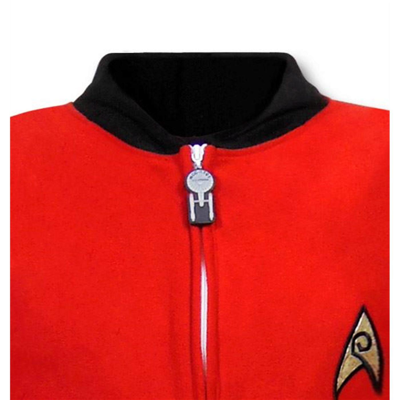 Star Trek Security Uniform Footed Pajamas