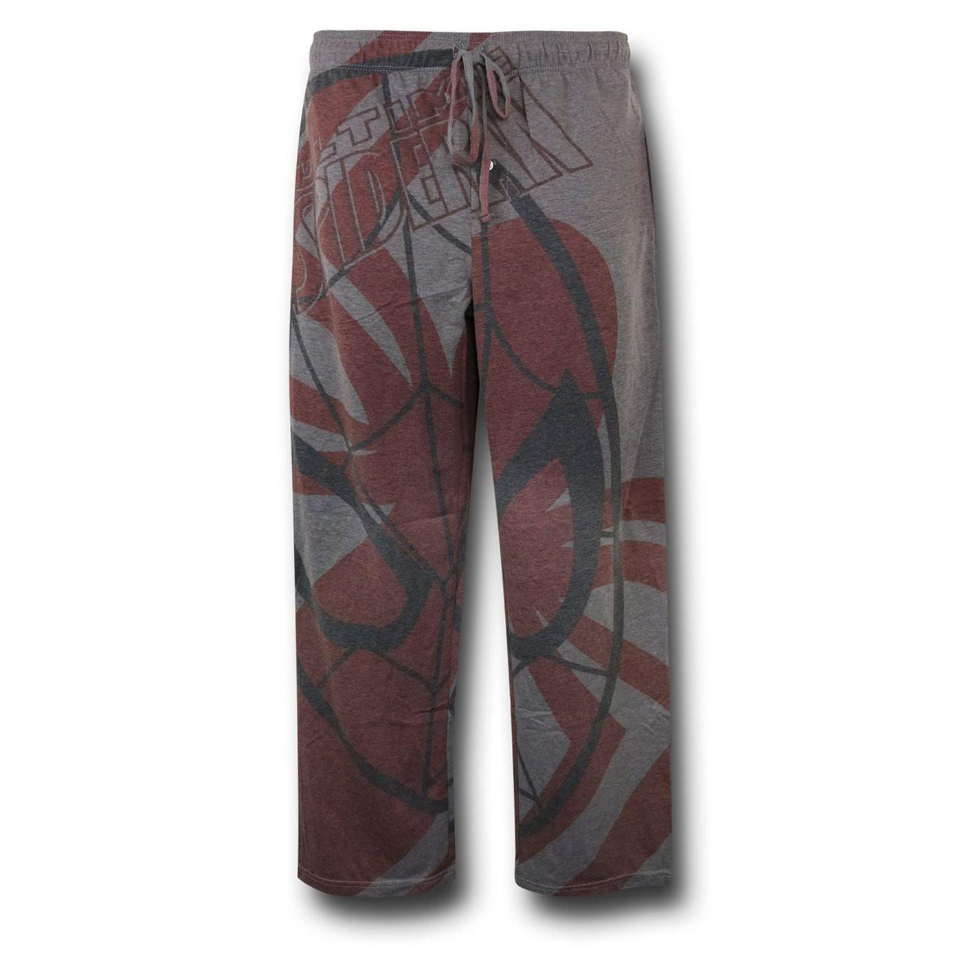 Spiderman Big Face Men's Pajama Pants