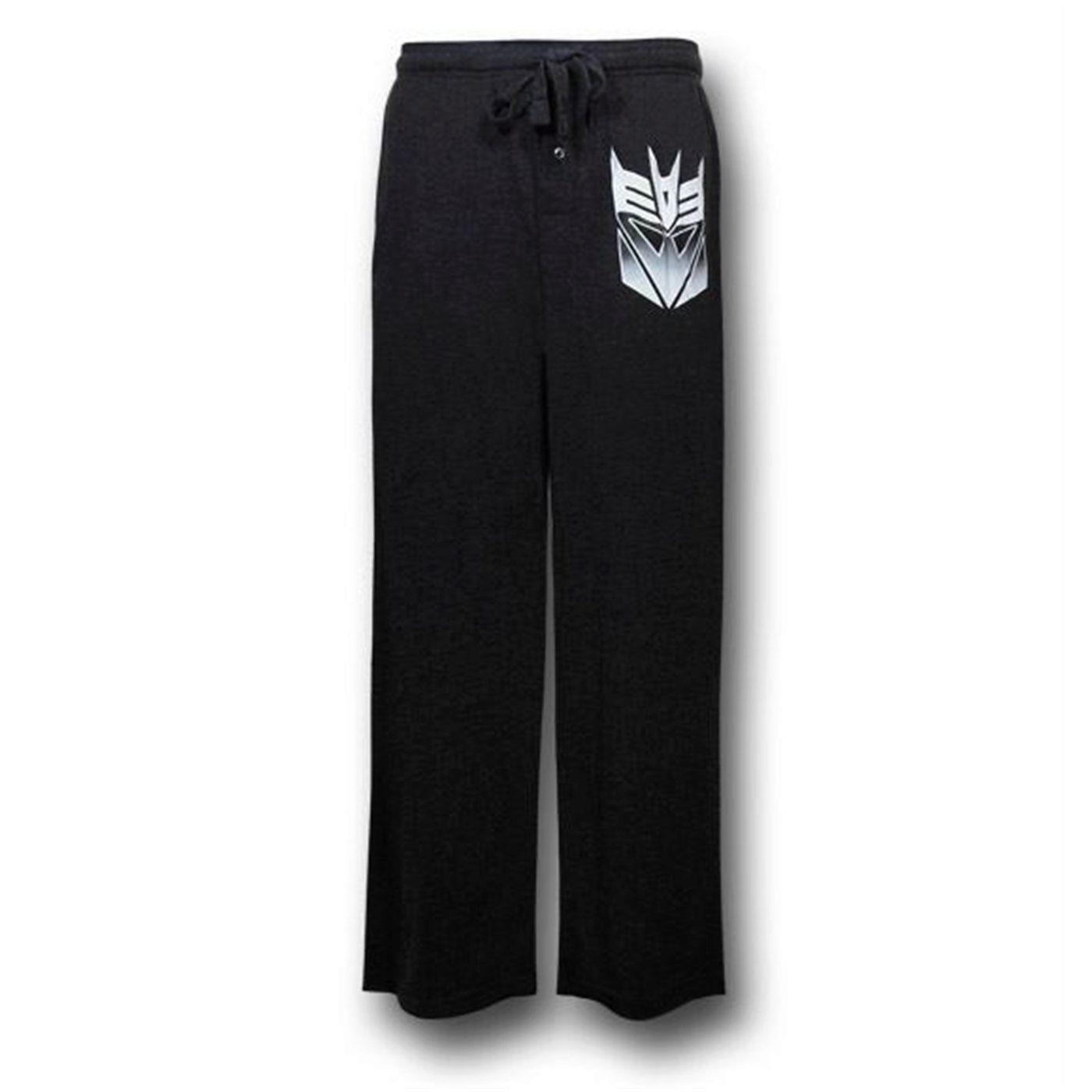 Transformers Decepticon Black Sleep Pants
