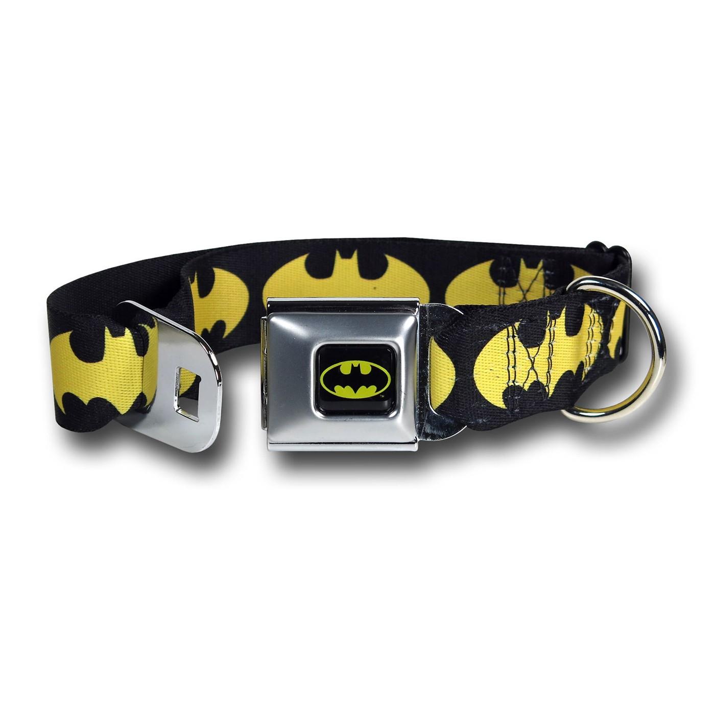 Batgirl Yellow Symbols Seatbelt Dog Collar