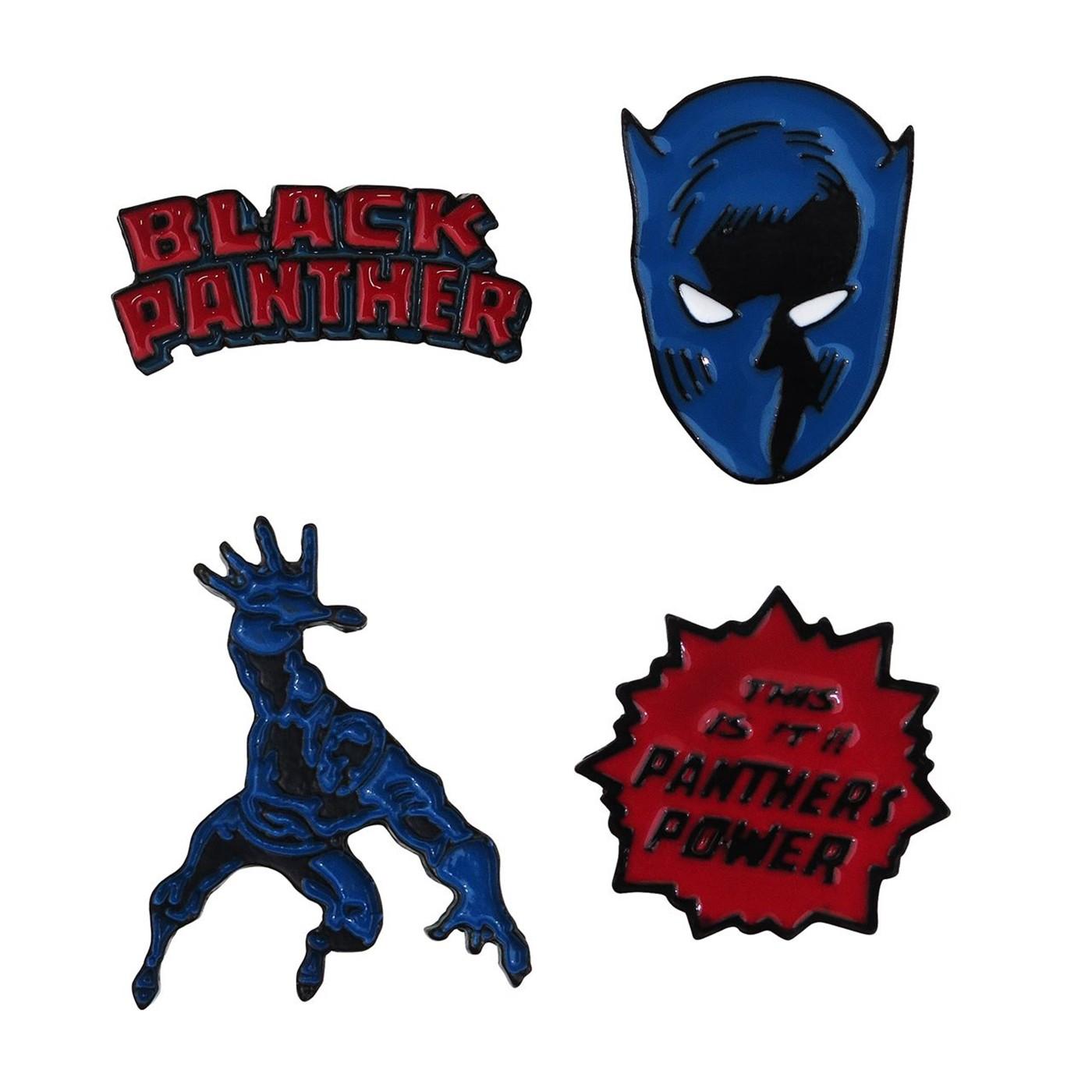 Black Panther Lapel Pin Set of 4