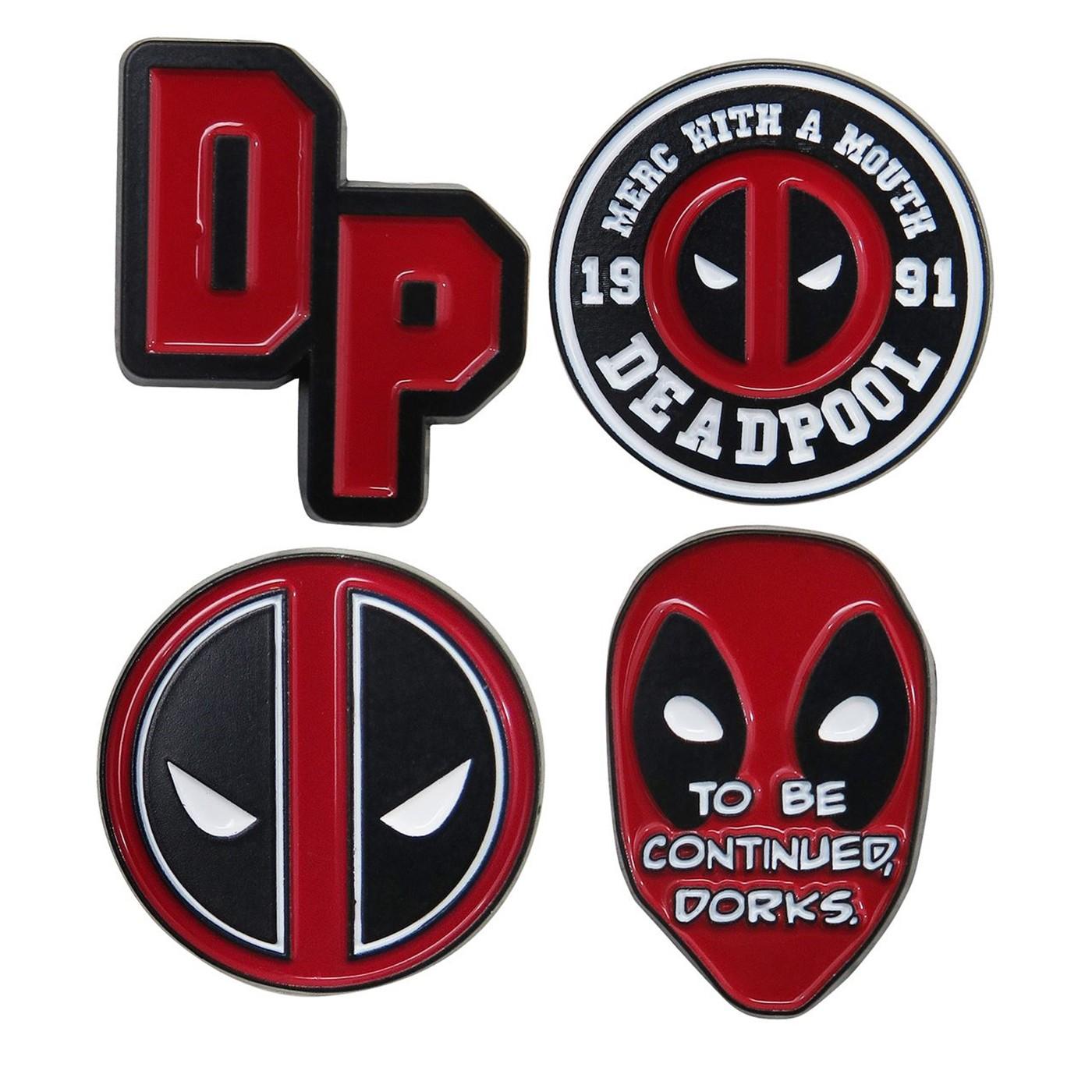 Deadpool Lapel Pin Set of 4