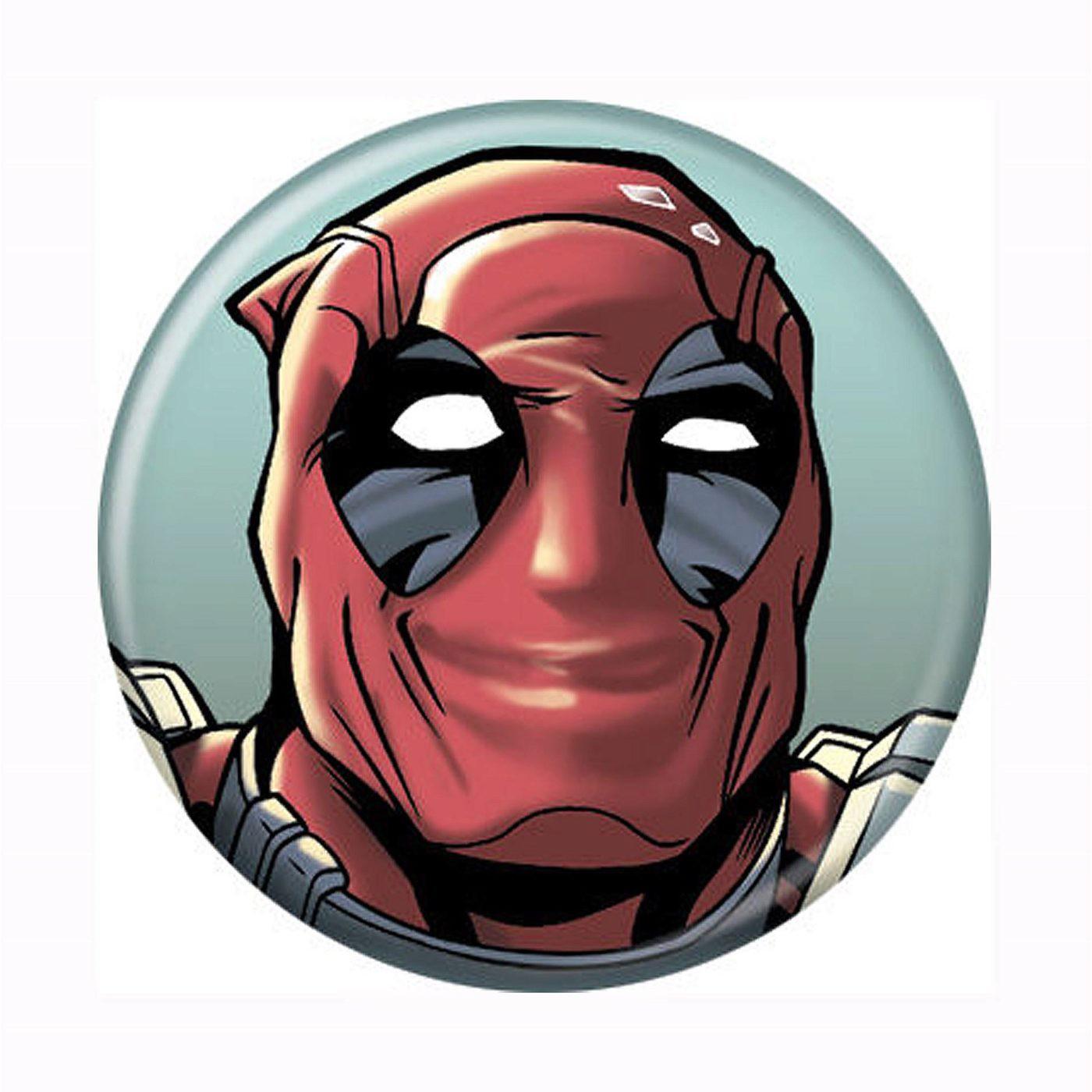 Deadpool Smiling Button