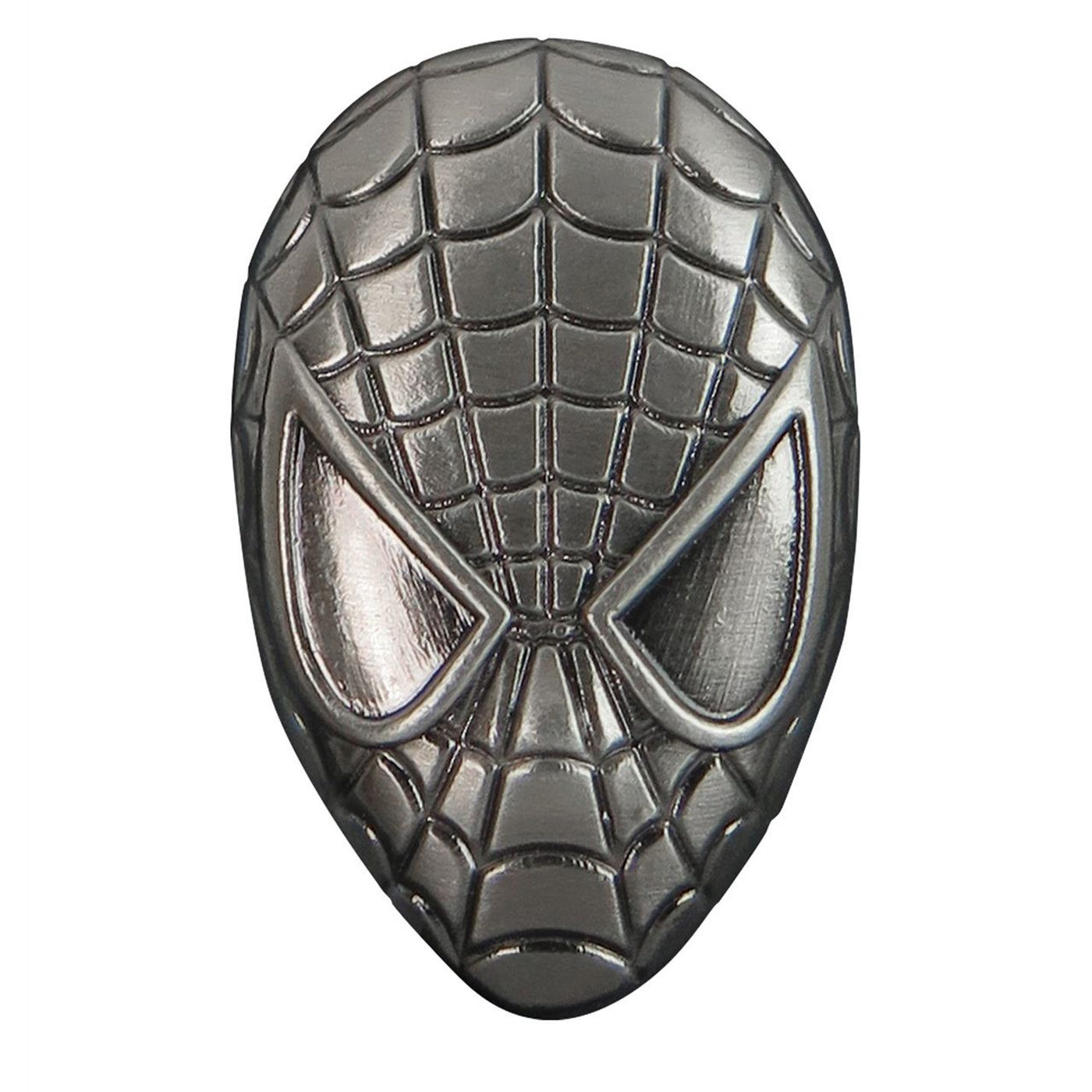 Spiderman Head Pewter Lapel Pin