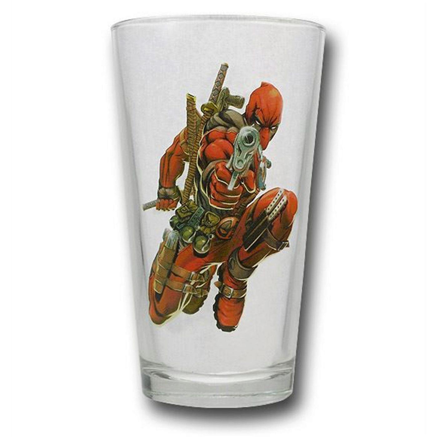 Deadpool Pint Glass