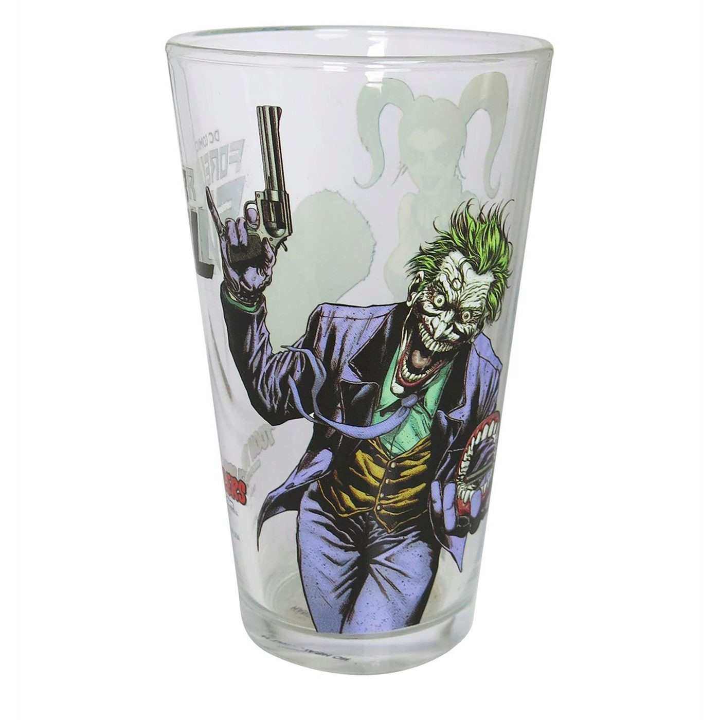 Joker and Harley Quinn Laughing Pint Glass