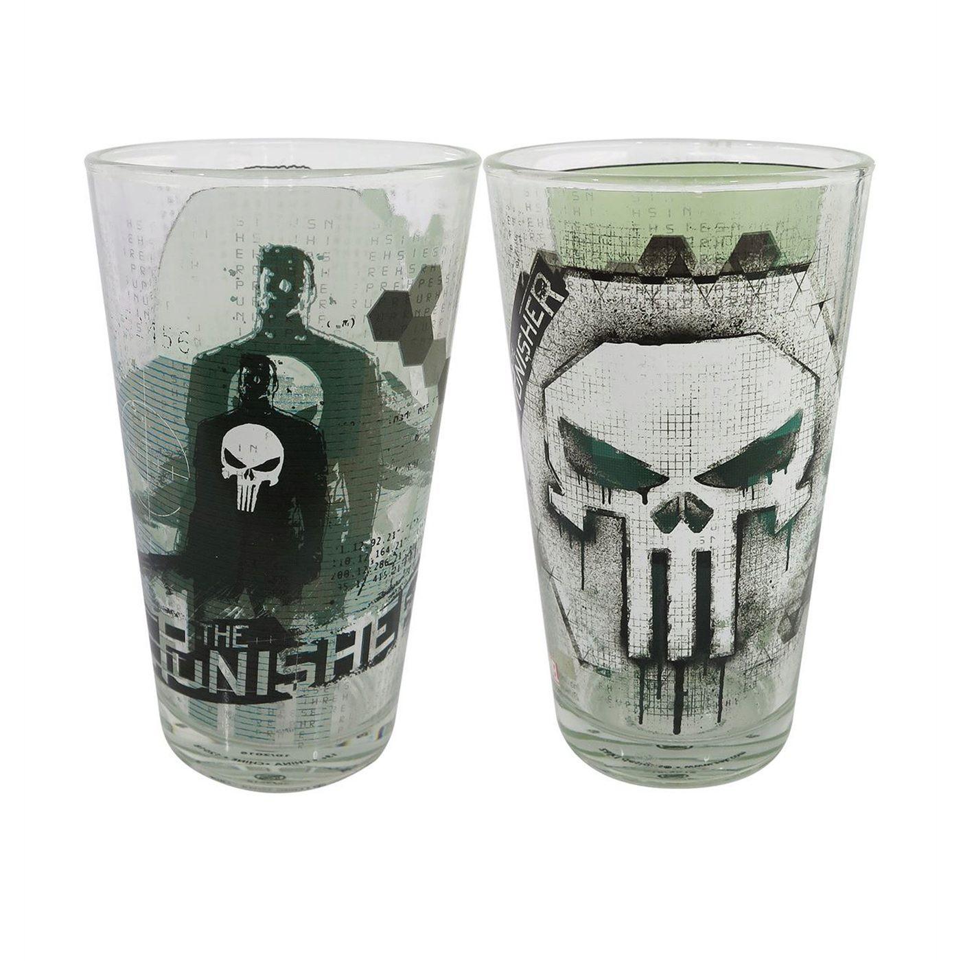 Punisher Skulls 2-Piece Pint Glass Set