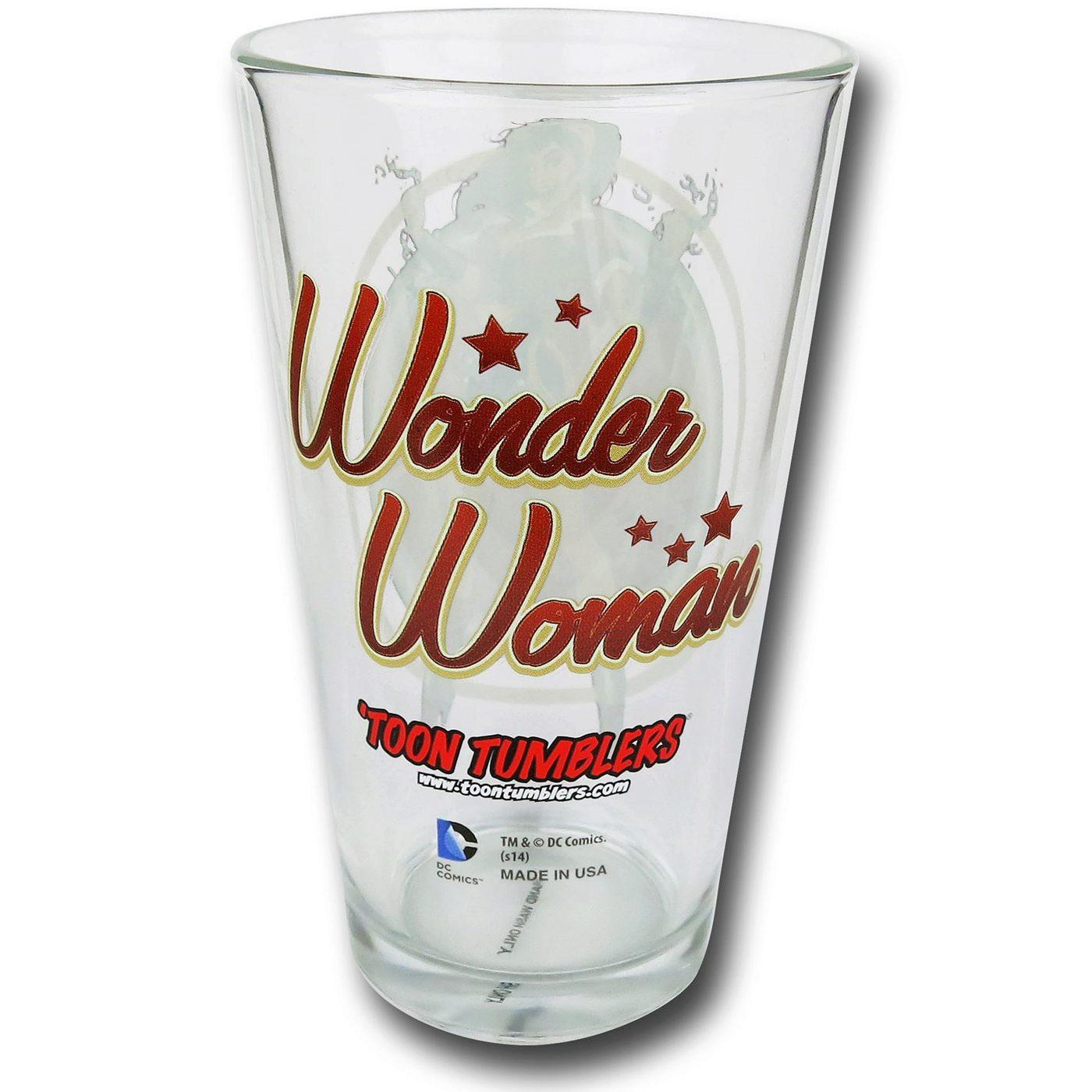 Wonder Woman Bombshells Pint Glass