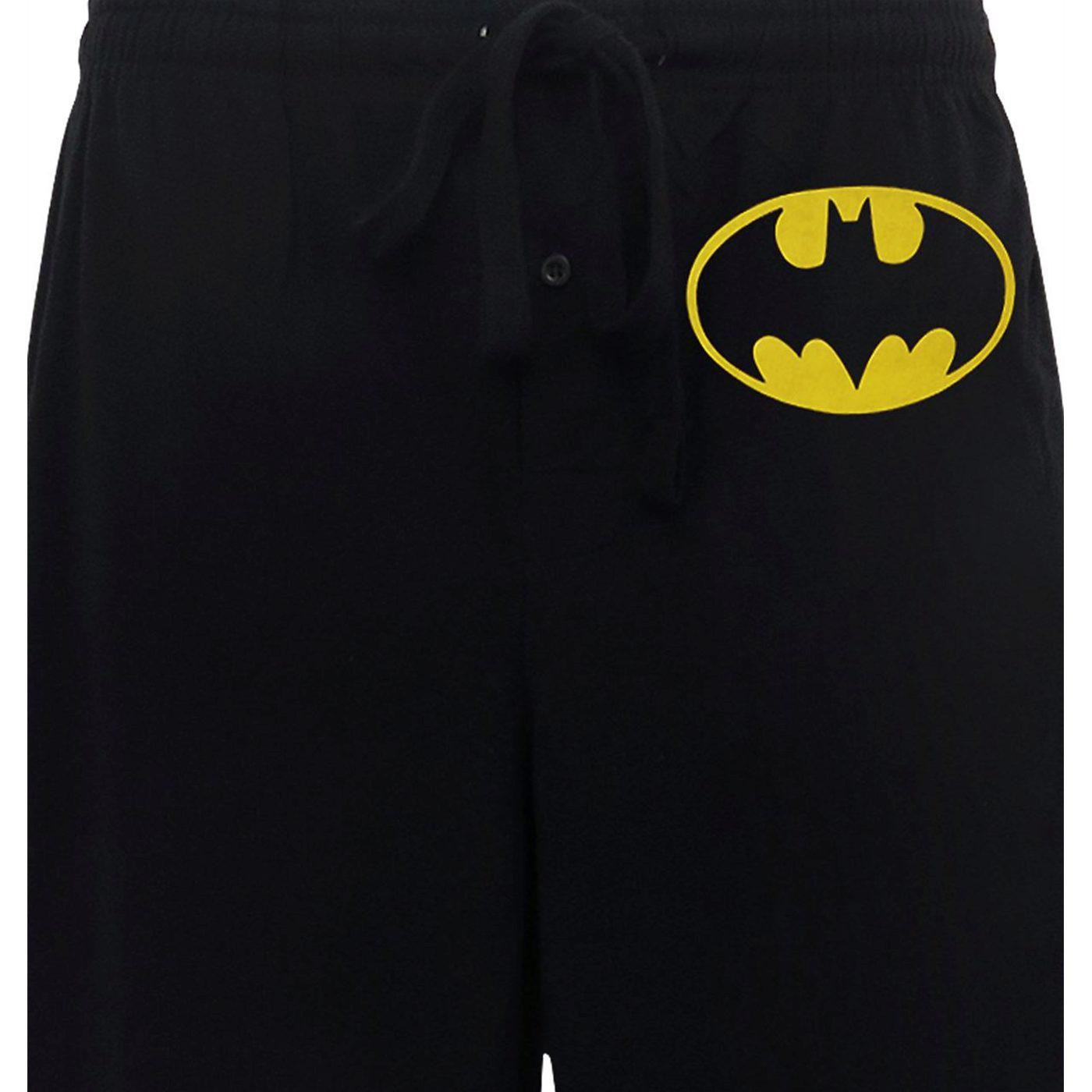 Batman Yellow Symbol Black Sleep Pants