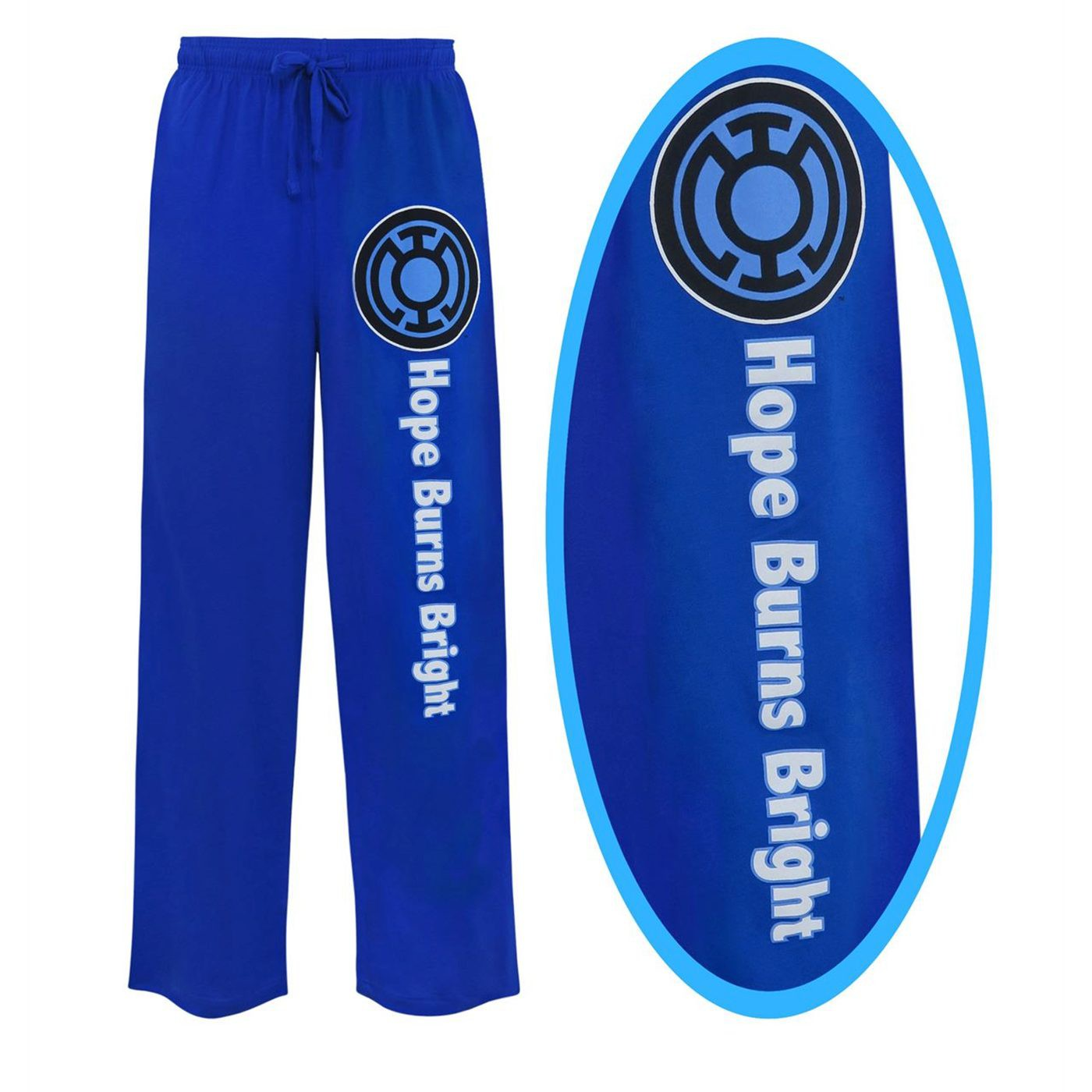 Blue Lantern Hope Burns Bright Unisex Pajama Pants