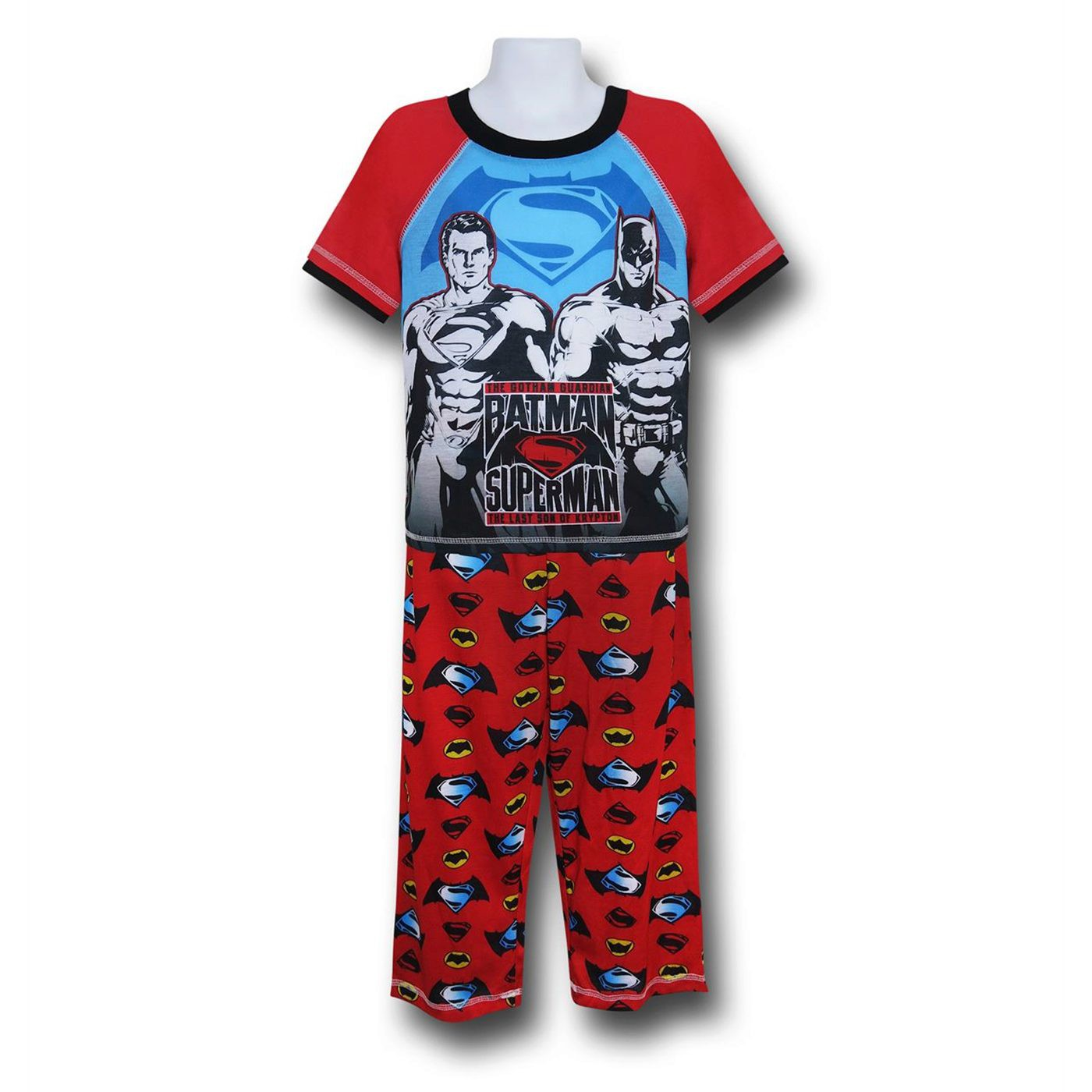 Batman Vs Superman Kids Red Pajama Set