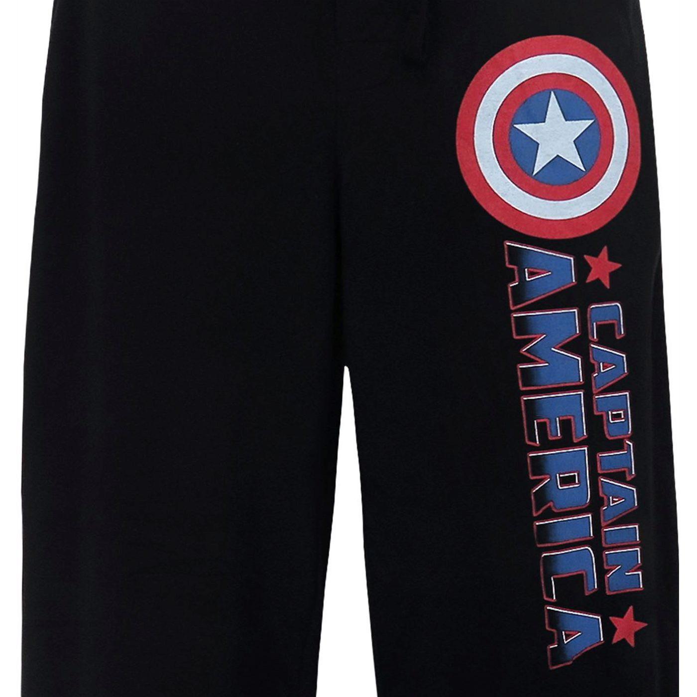 Captain America Comic Logo Men's Pajama Pants