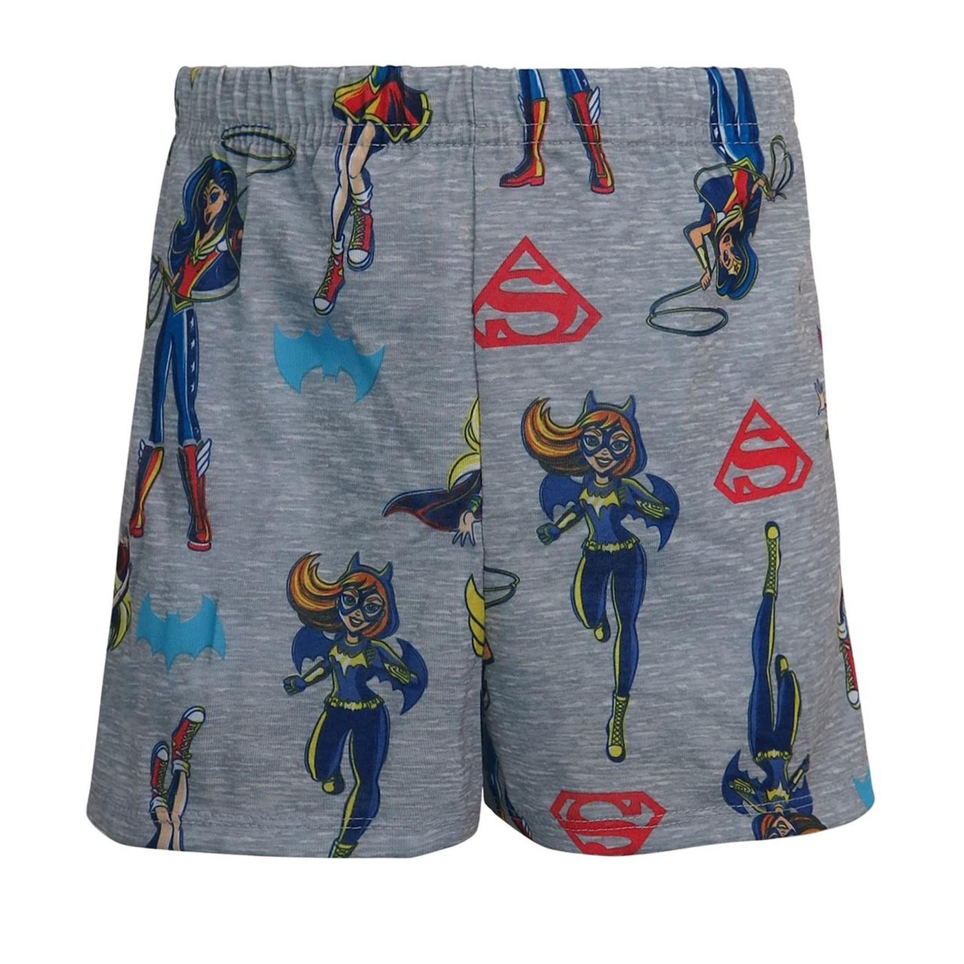 DC Superhero Girls Girl Power Juvenile Top & Short Set