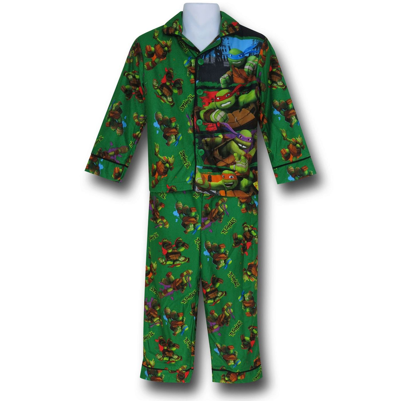 TMNT Jersey Coat Green Kids Pajama Set