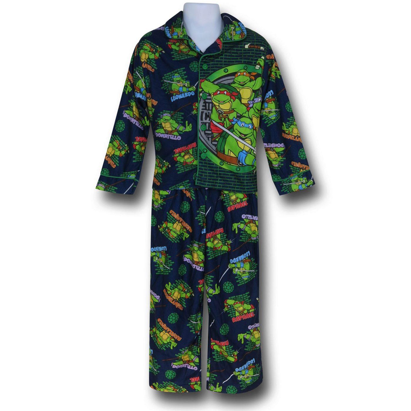 TMNT Jersey Coat Kids Pajama Set