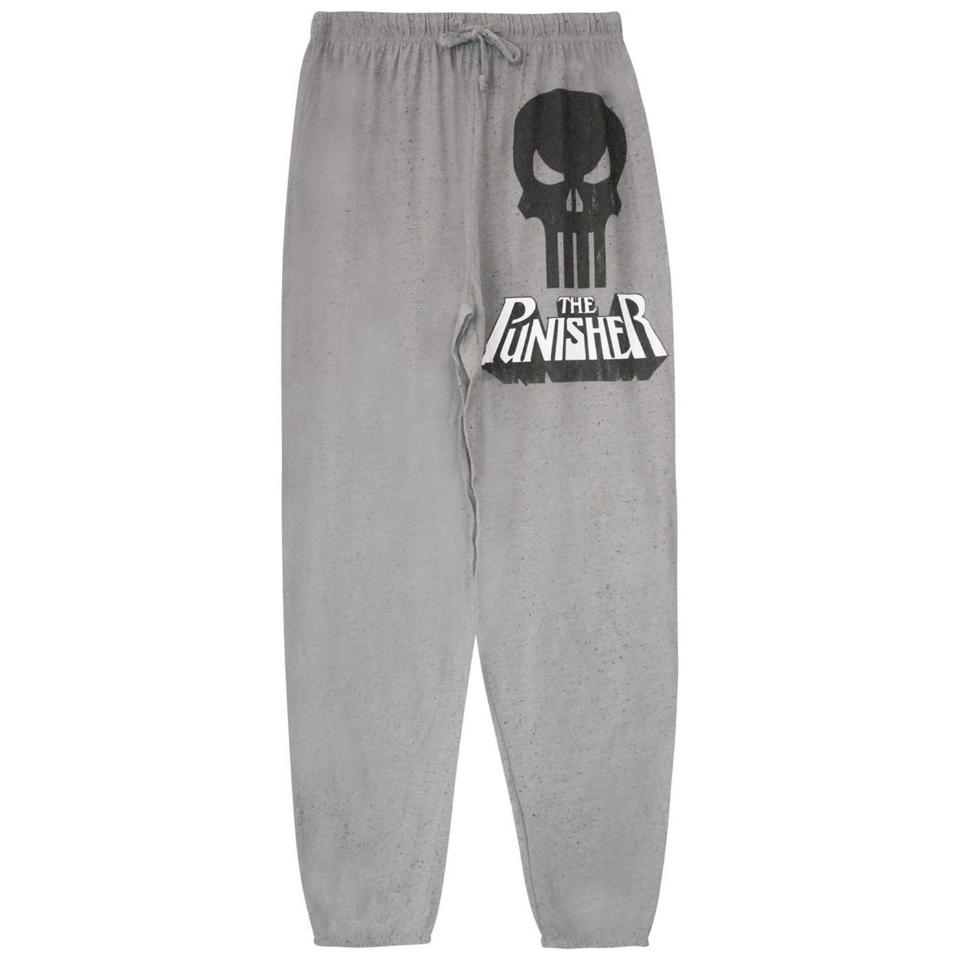 Punisher Skull & Logo Athletic Men's Pajama Pants