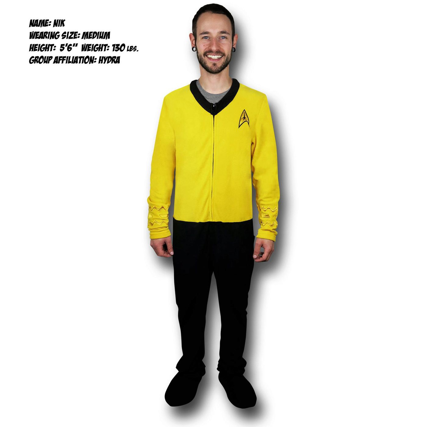 Star Trek Yellow Command Union Suit