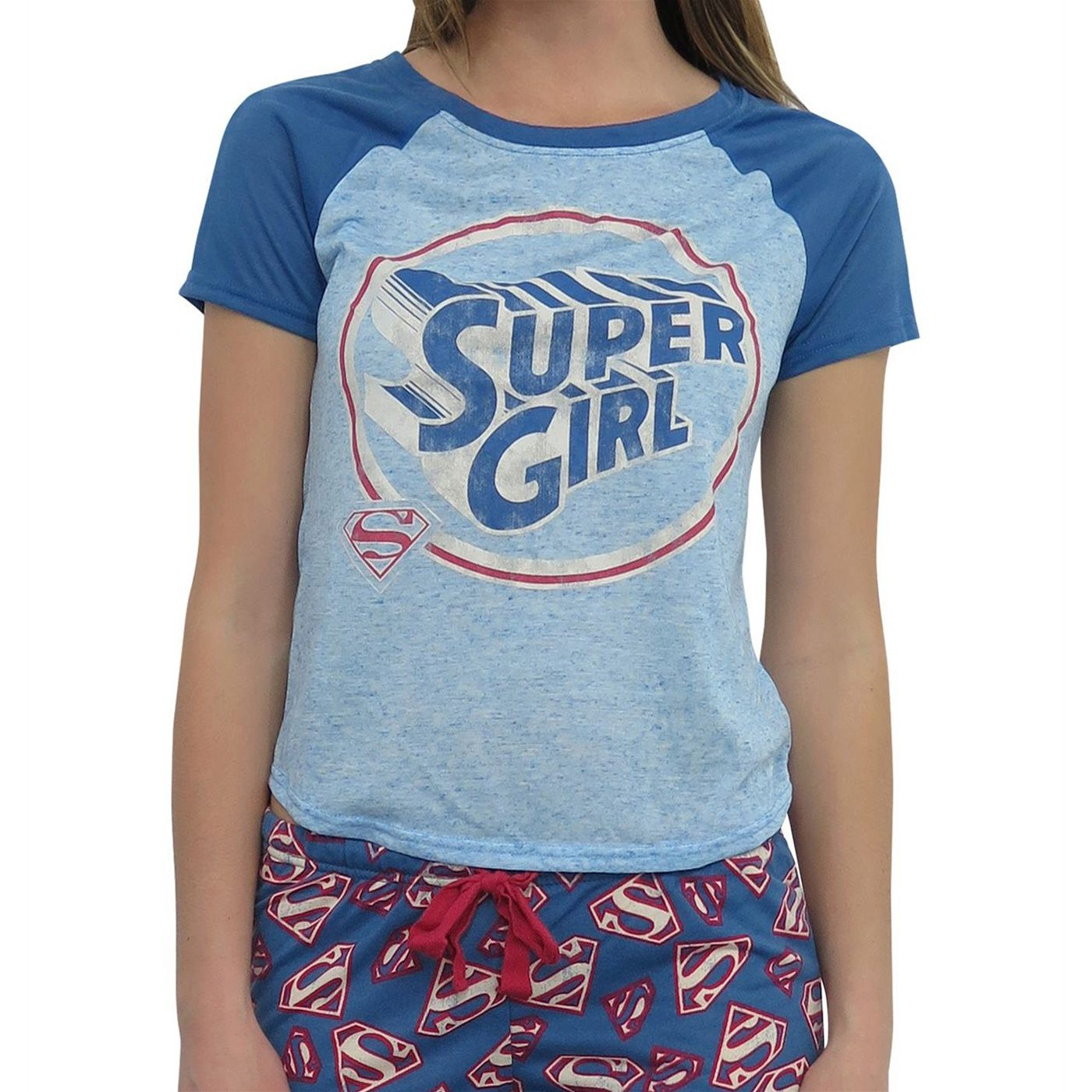 Supergirl All-Over Print Women's 2-piece Pajama Set