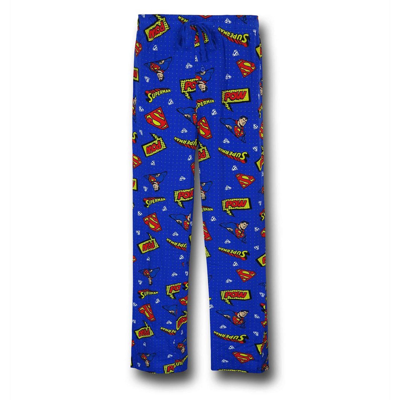Superman Symbols All Over Print Men's Pajama Pants