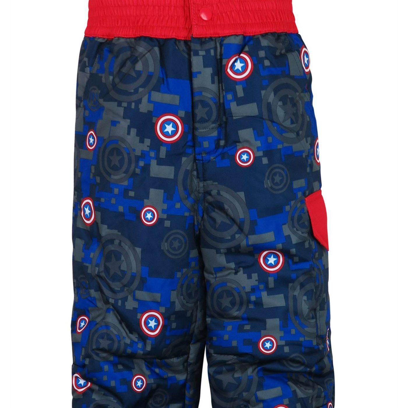 Captain America Shield Kids Snow Pants