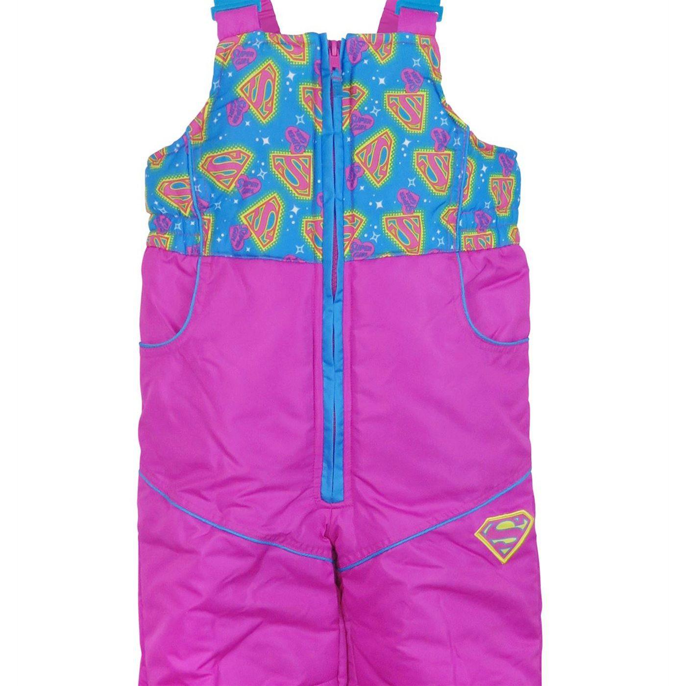 Supergirl Symbols Kids Snow Pants