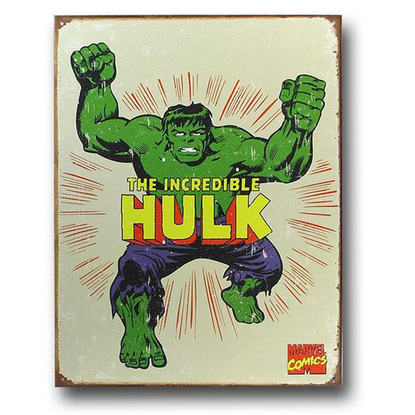 The Hulk Vintage Tin Poster Sign