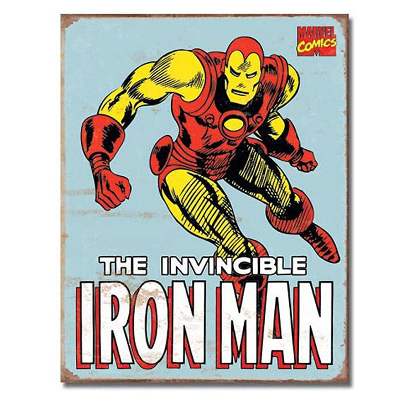 Iron Man Retro Comic Tin Sign