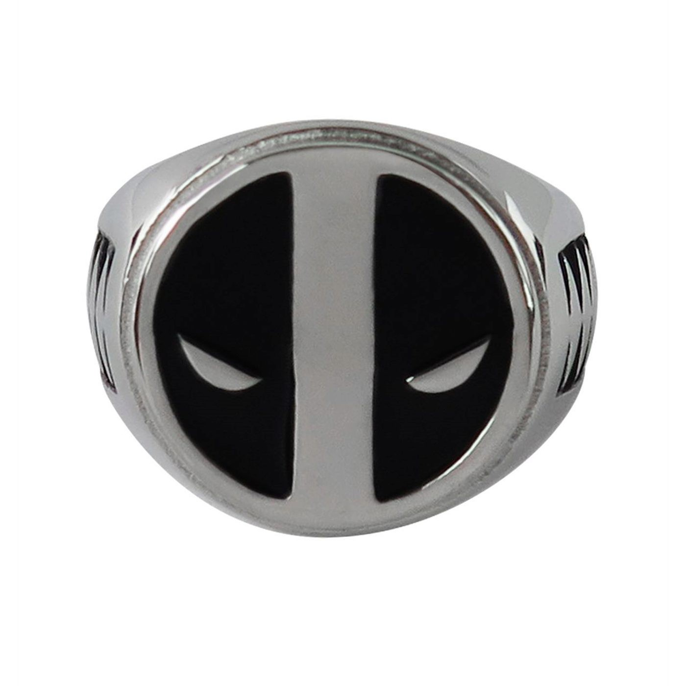 Deadpool Black Symbol Stainless Steel Plated Ring
