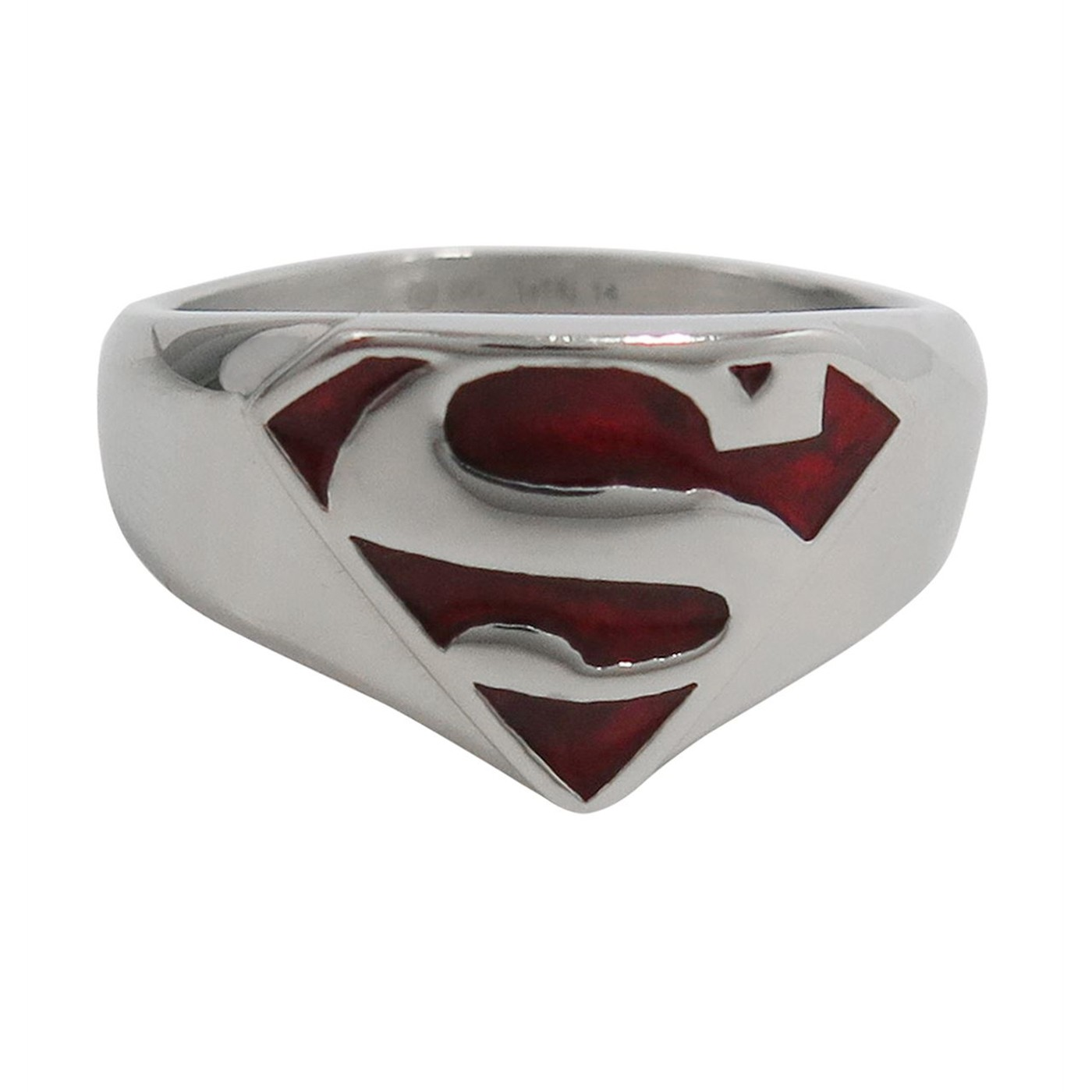 Superman Red Translucent Symbol Ring