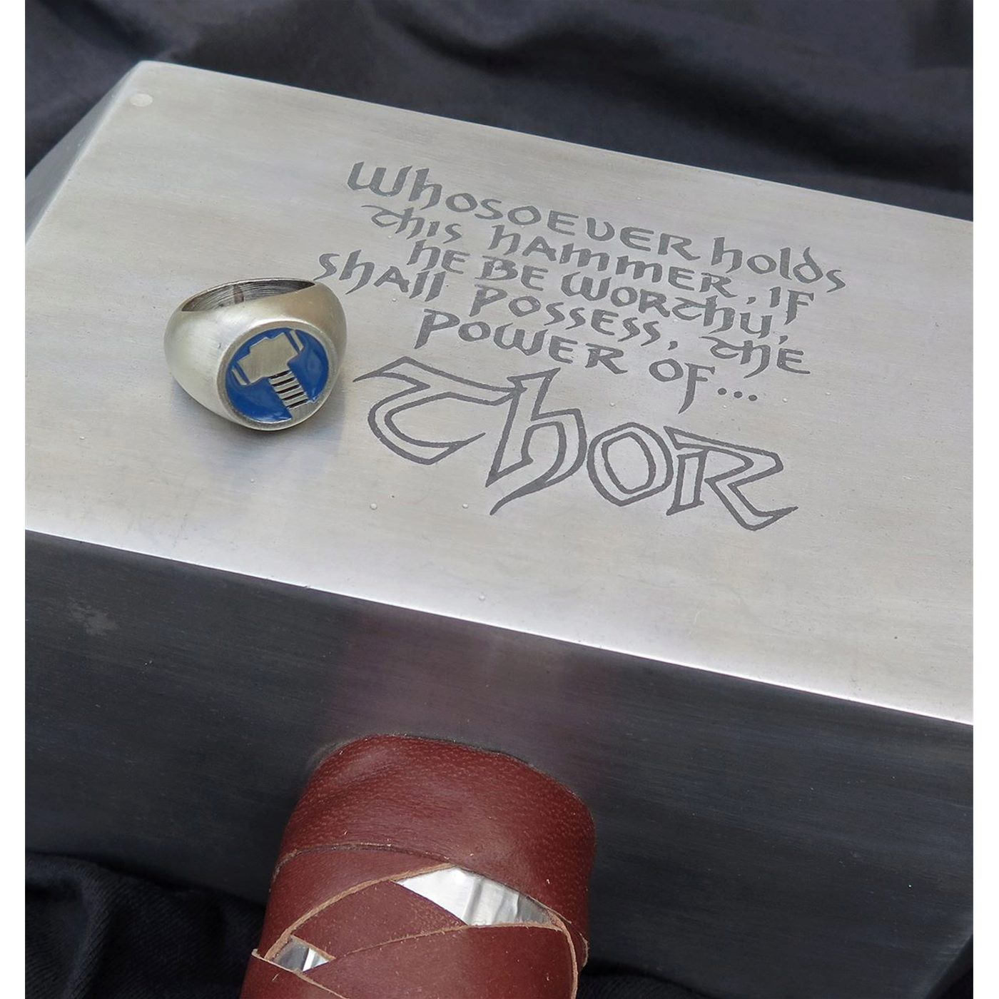 Thor Brushed Nickel Hammer Ring