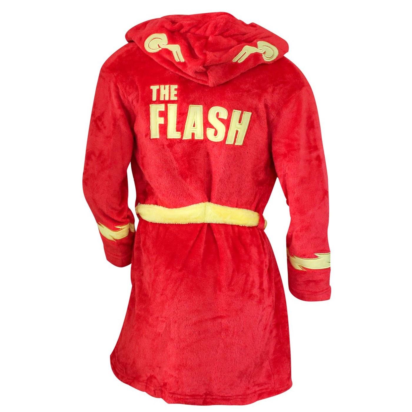 Flash Barry Allen Kids Hooded Robe