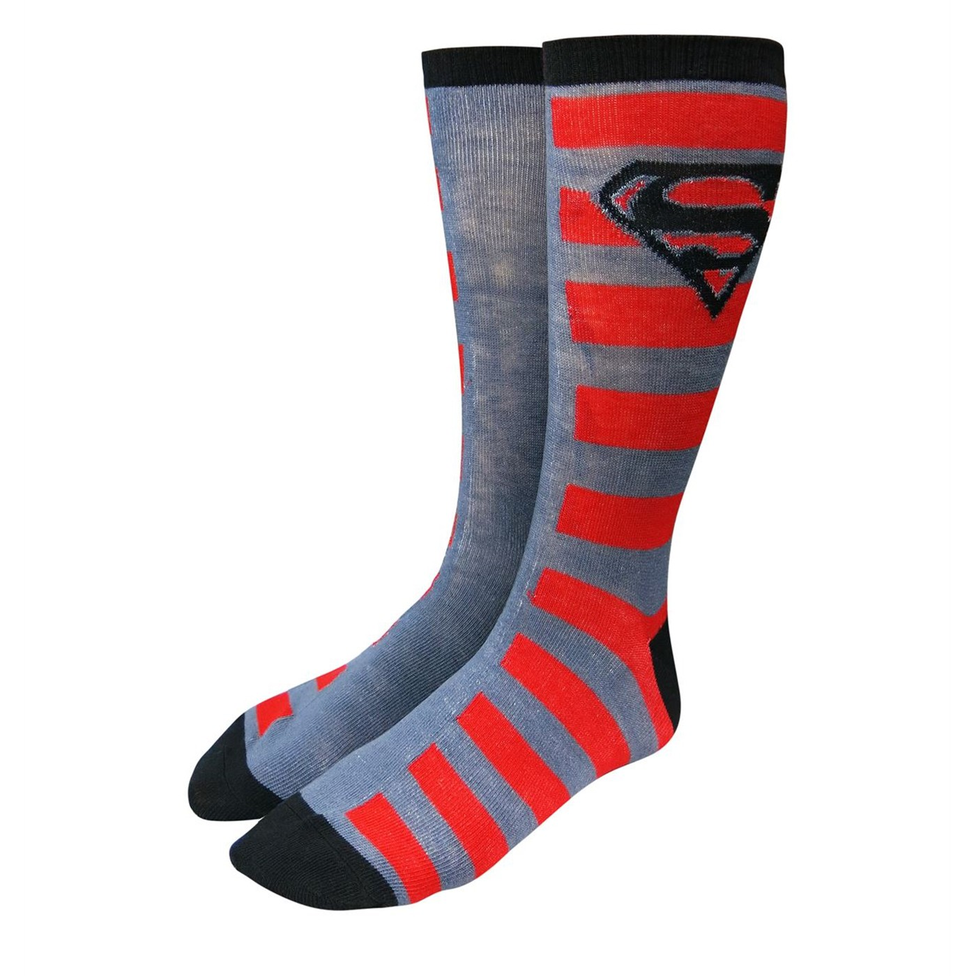 Superman Image and Stripes Sock 2 Pack