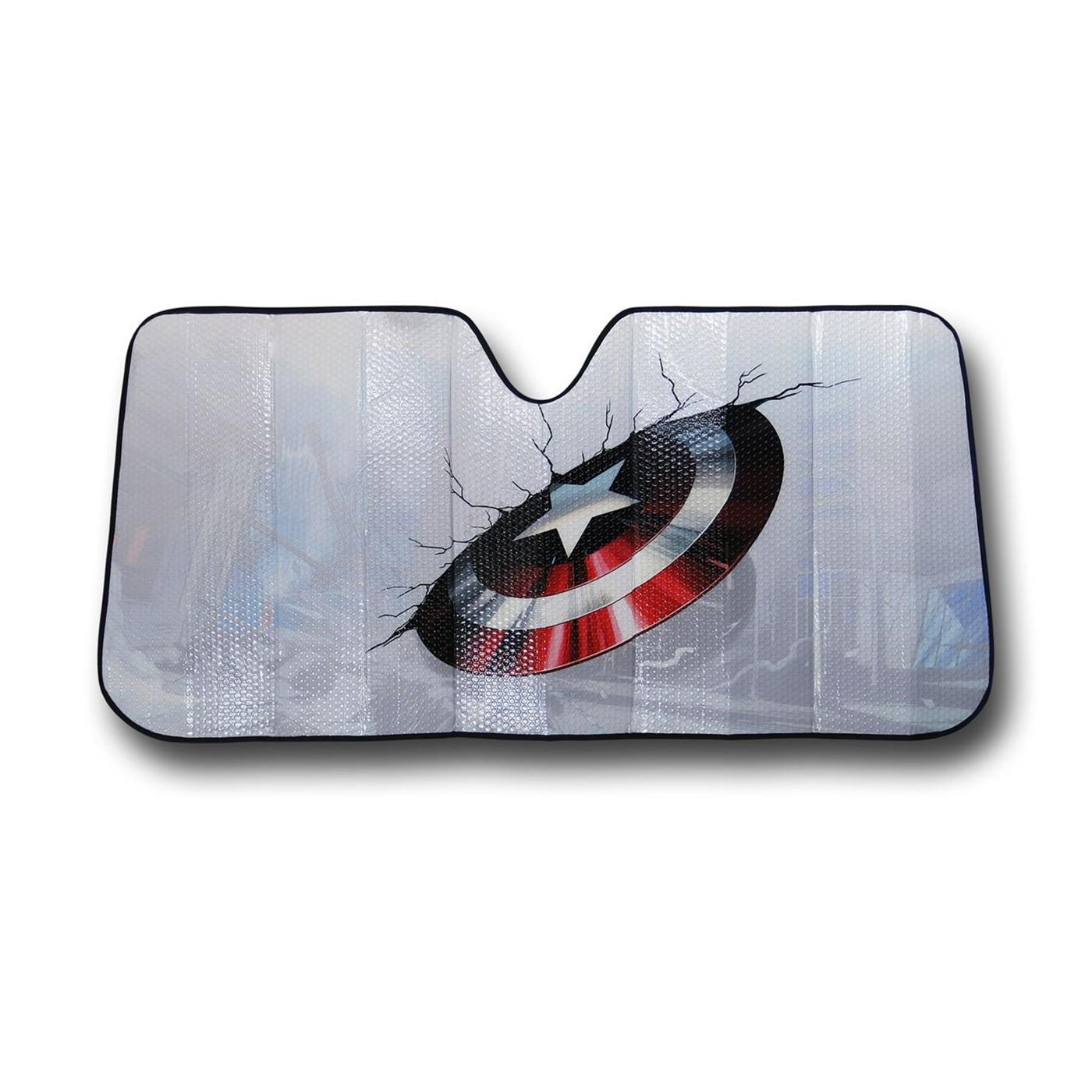 Captain America Car Shield Sunshade