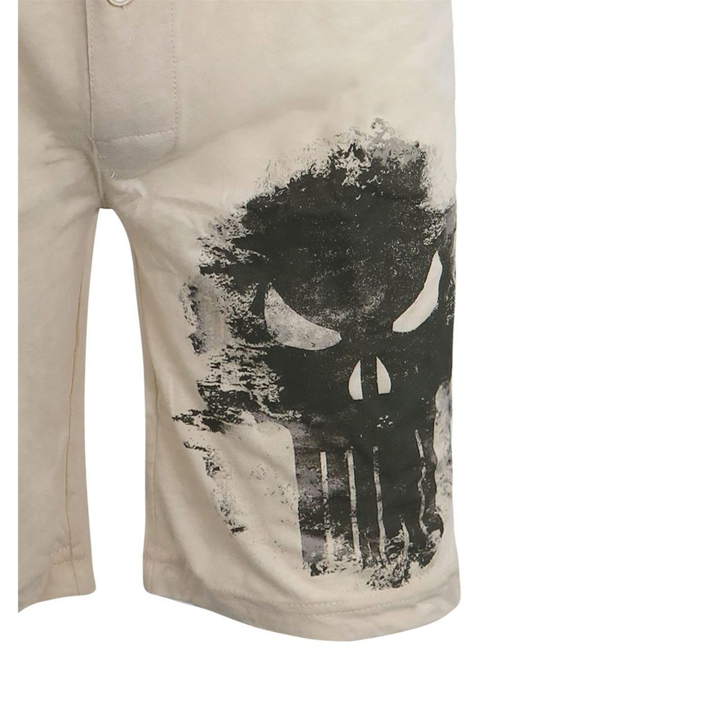 Punisher Faded Skull Men's Jersey Pajama Shorts