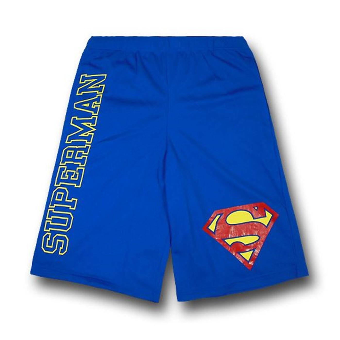 Superman Logo and Symbol Mesh Shorts