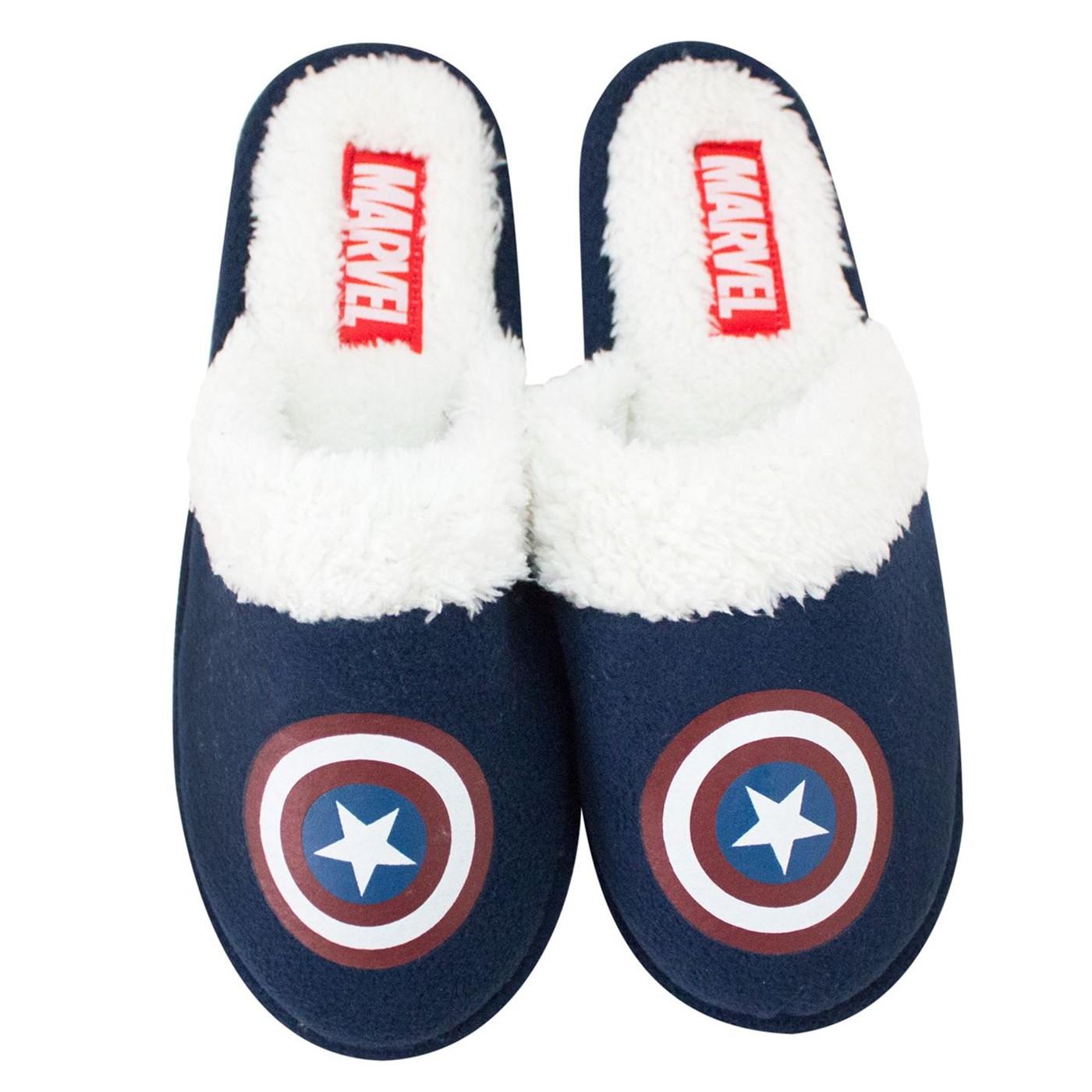 Captain America Shield Slip-On Men's Slippers