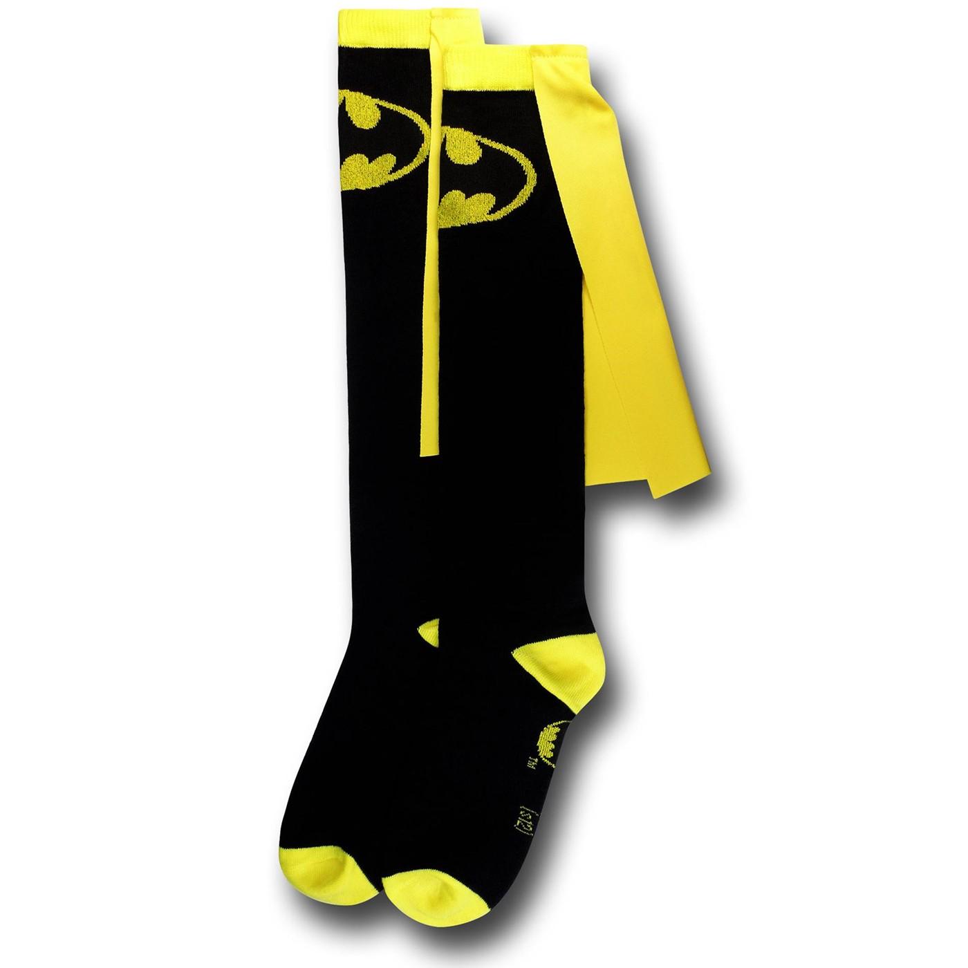 Batman Symbol Women's Caped Socks